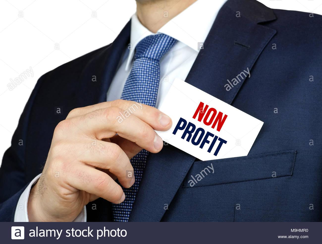 NON PROFIT - business concept - Stock Image