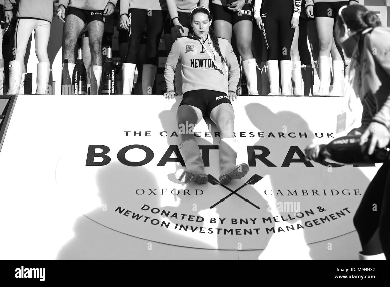 The cancer reasearch Boat race 2018 - Stock Image