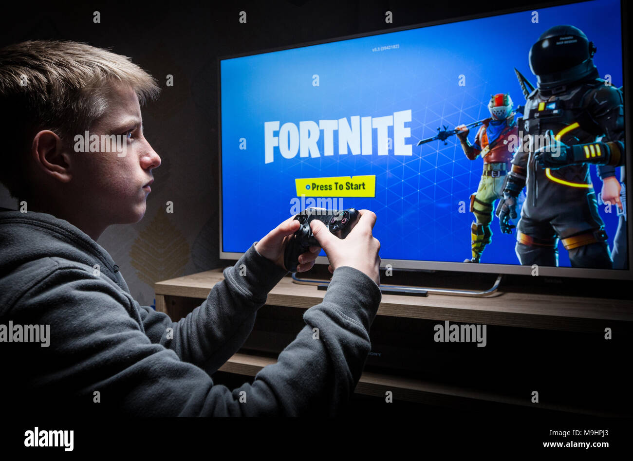 Boy Playing Fortnite Stock Photos Boy Playing Fortnite Stock