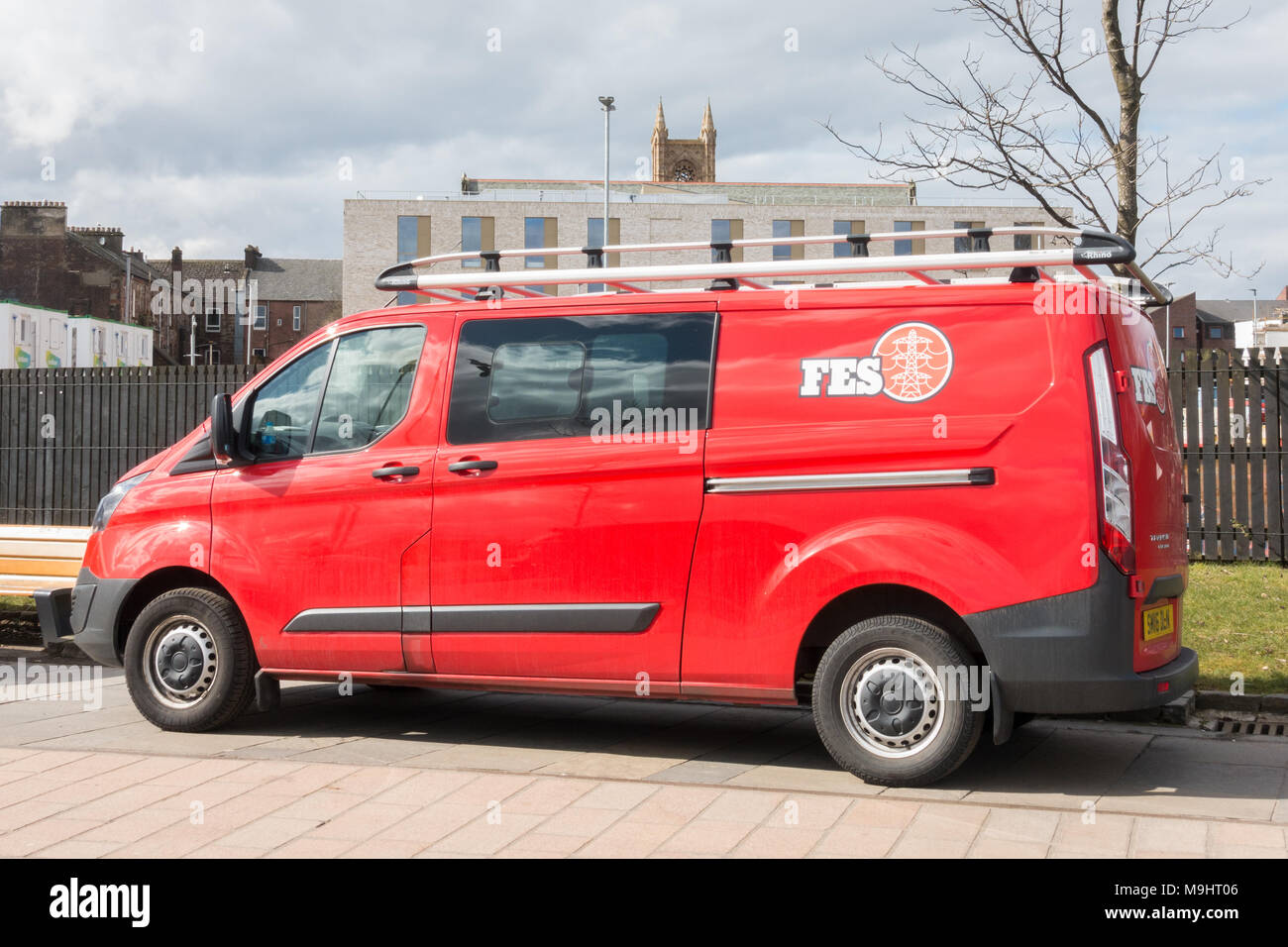 FES Group building services vehicle - Stock Image