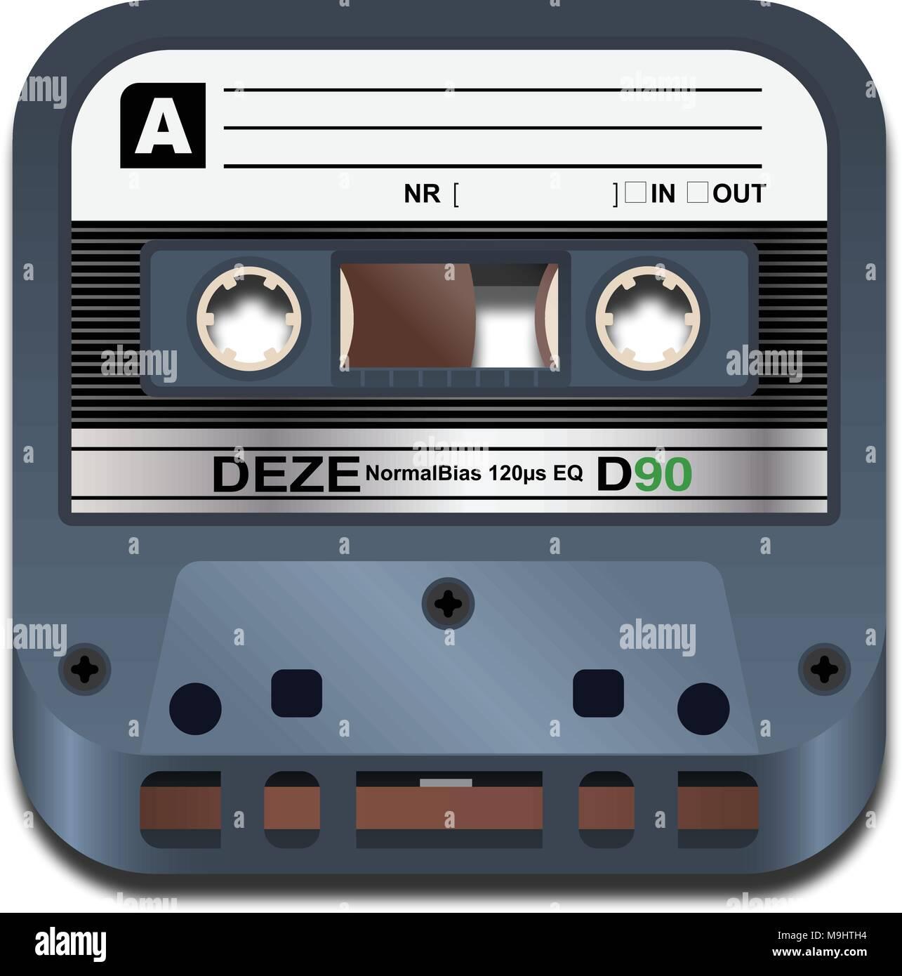 Cassette Tape Icon - Stock Vector