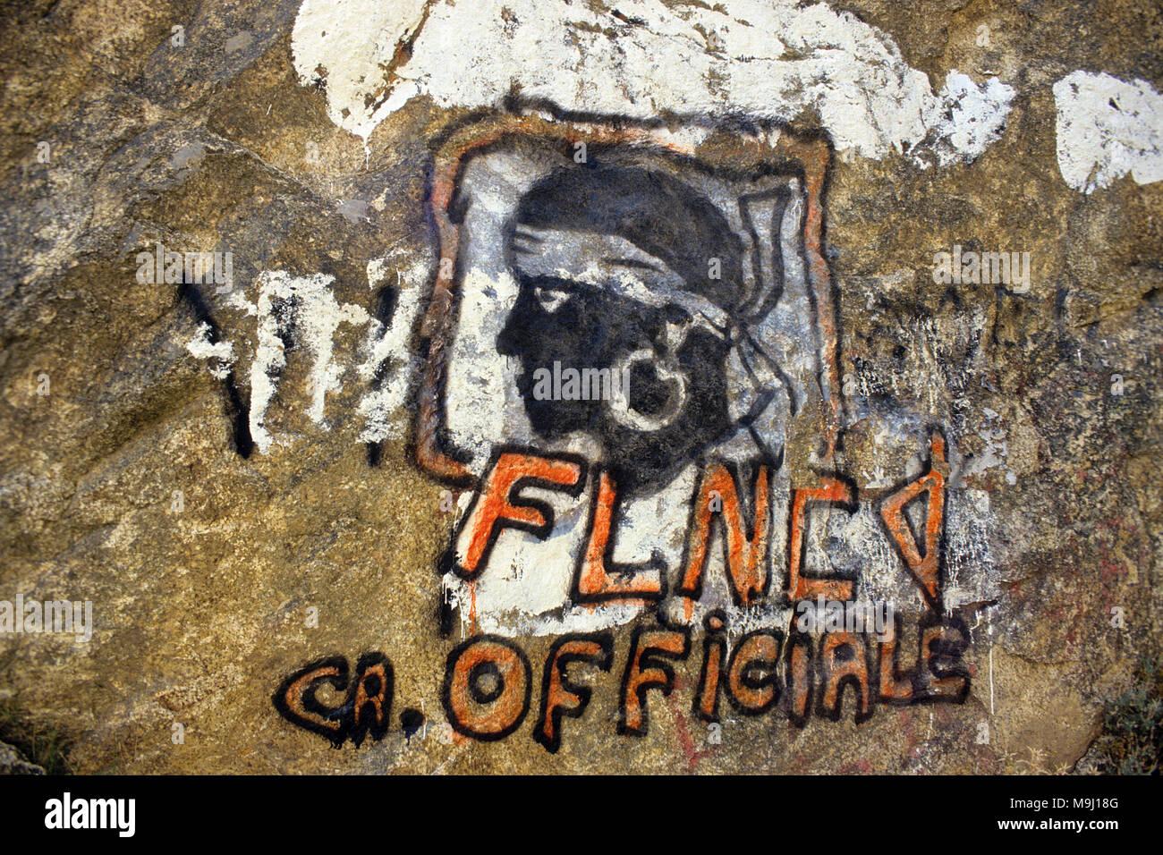 Liberty symbol, FNLC (Front National de Liberation de la Corse), seperatism movement, Corsica, France, Europe - Stock Image