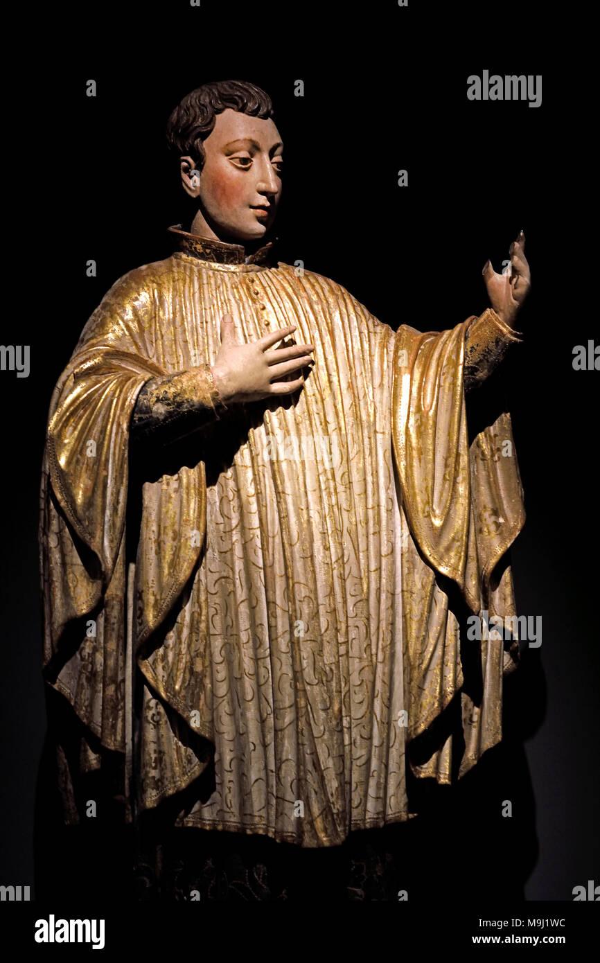 Saint Aloysius Gonzaga 18th Century Portugal Portuguese Coimbra - Stock Image