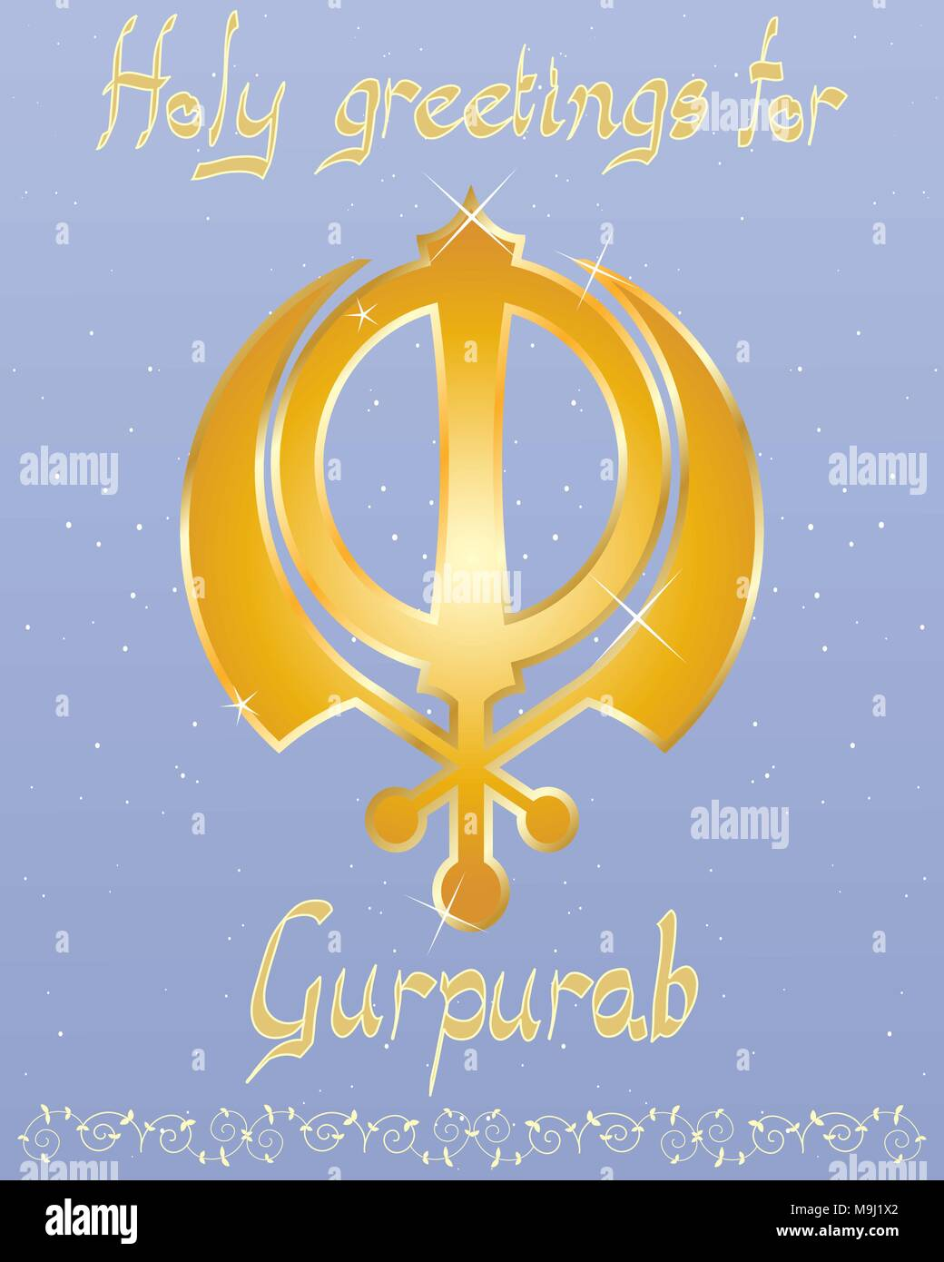 Illustration Sikh Greeting Card Symbol Stock Photos Illustration