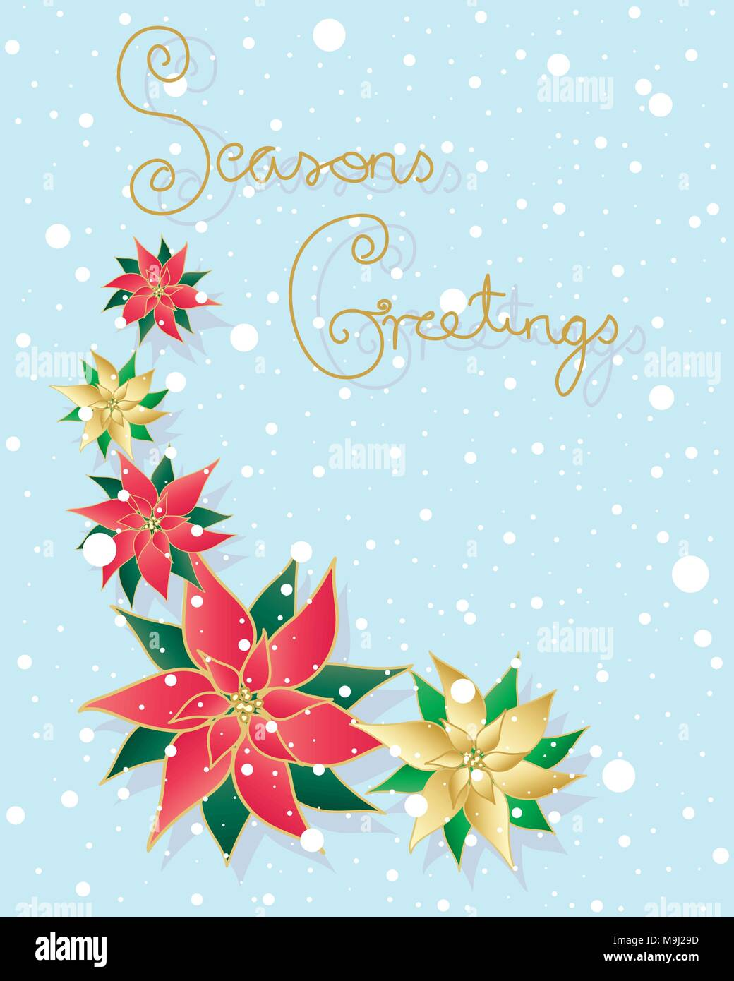 Christmas Card Greetings.An Illustration Of A Traditional Christmas Card With The