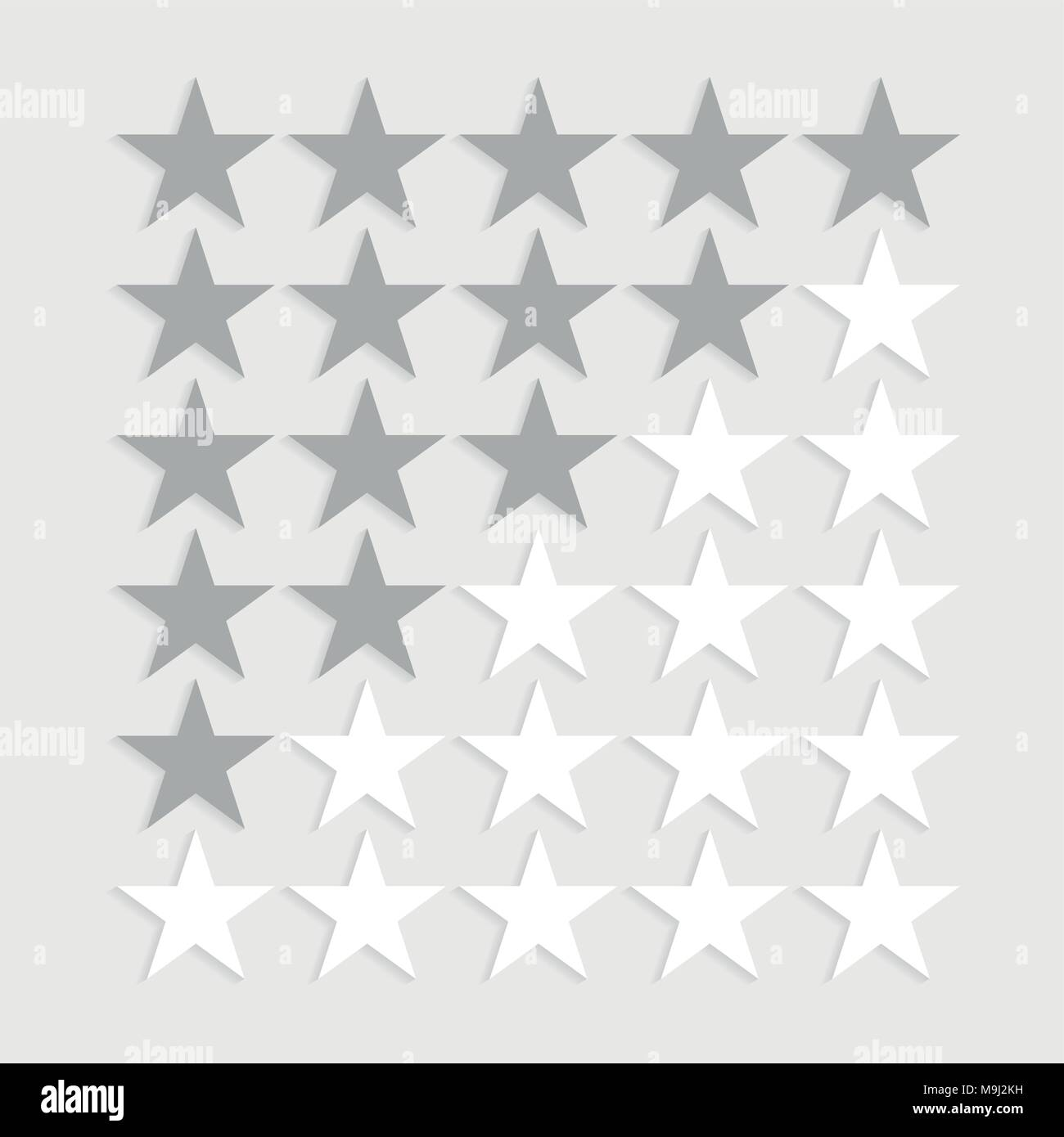 Star rating symbols. Stock Vector