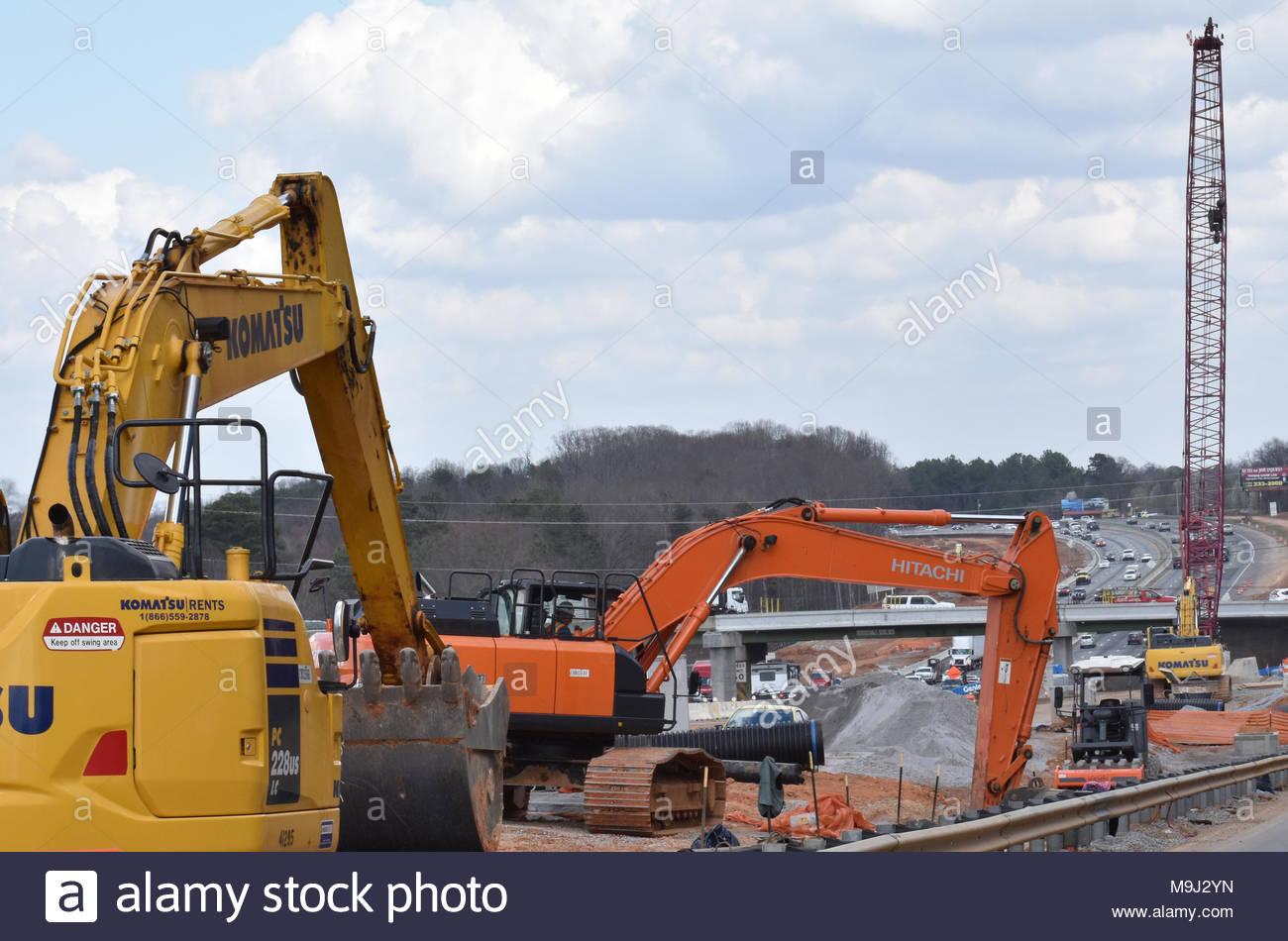 Construction congestion - Stock Image