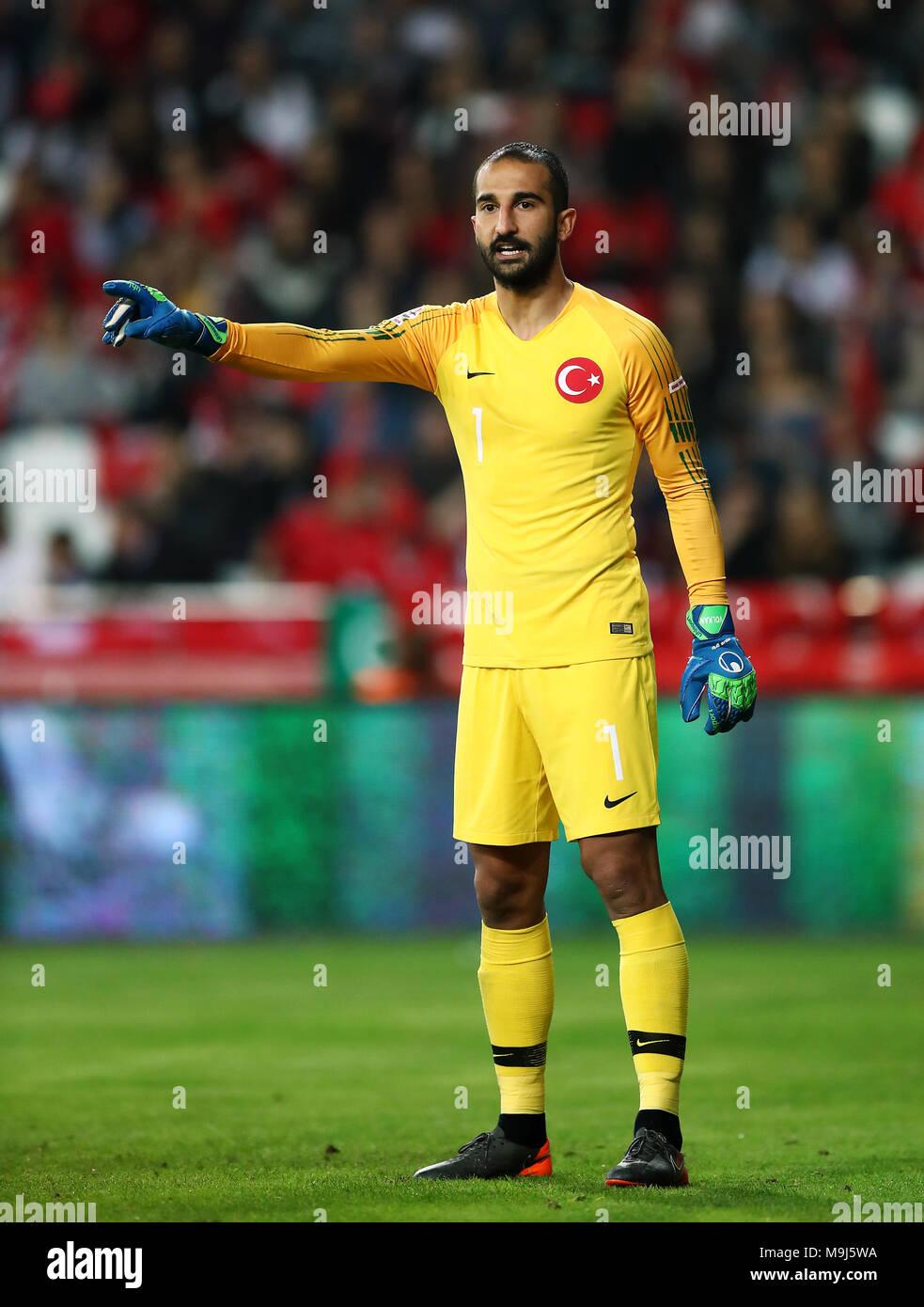 Turkey goalkeeper Volkan Babacan Stock Photo - Alamy