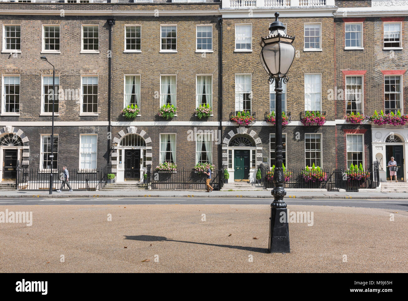 Bedford Square London, a row of Georgian terraced houses in Bedford Square in the Bloomsbury area of London, UK. - Stock Image