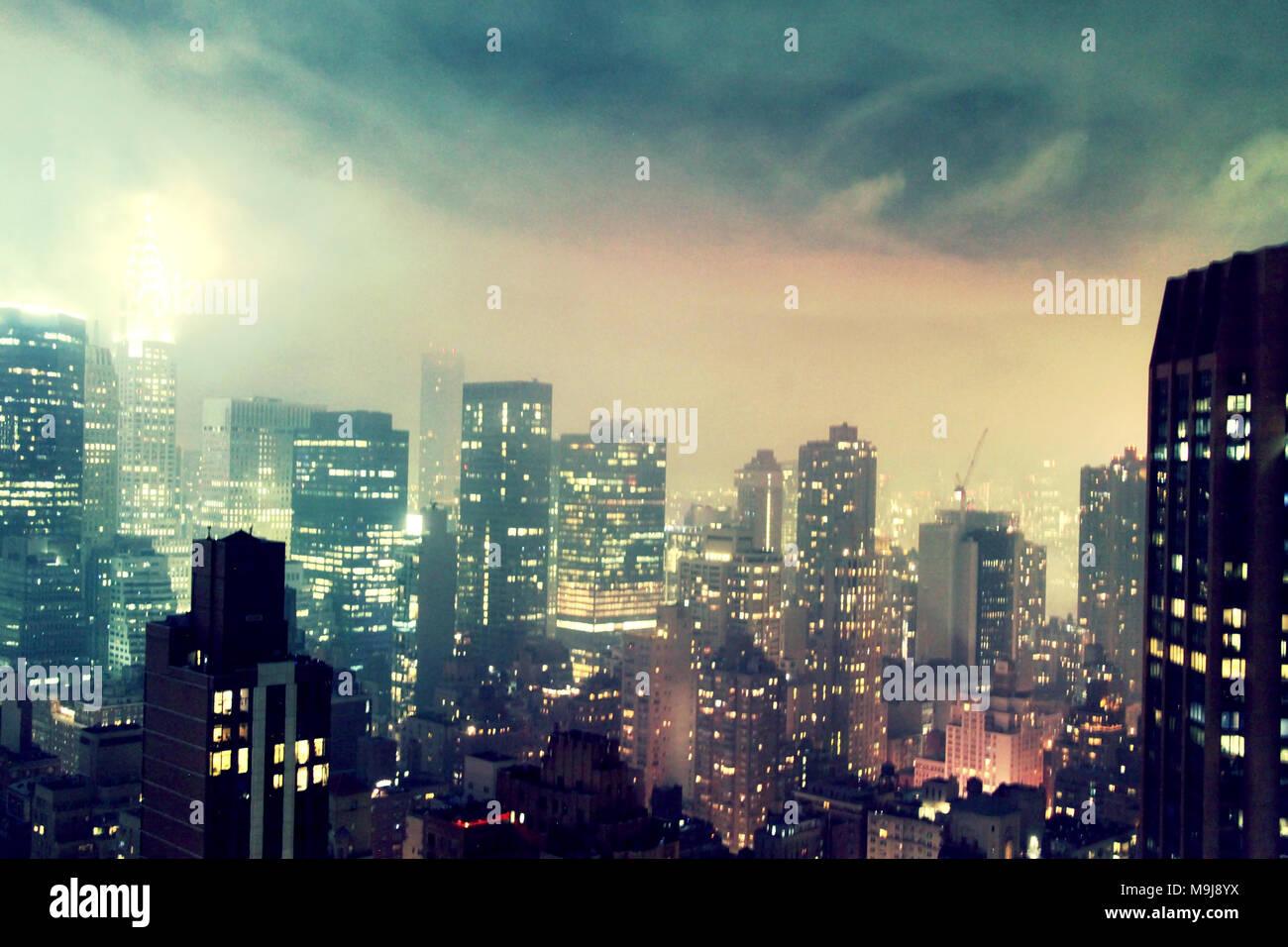 New York skyline - Stock Image