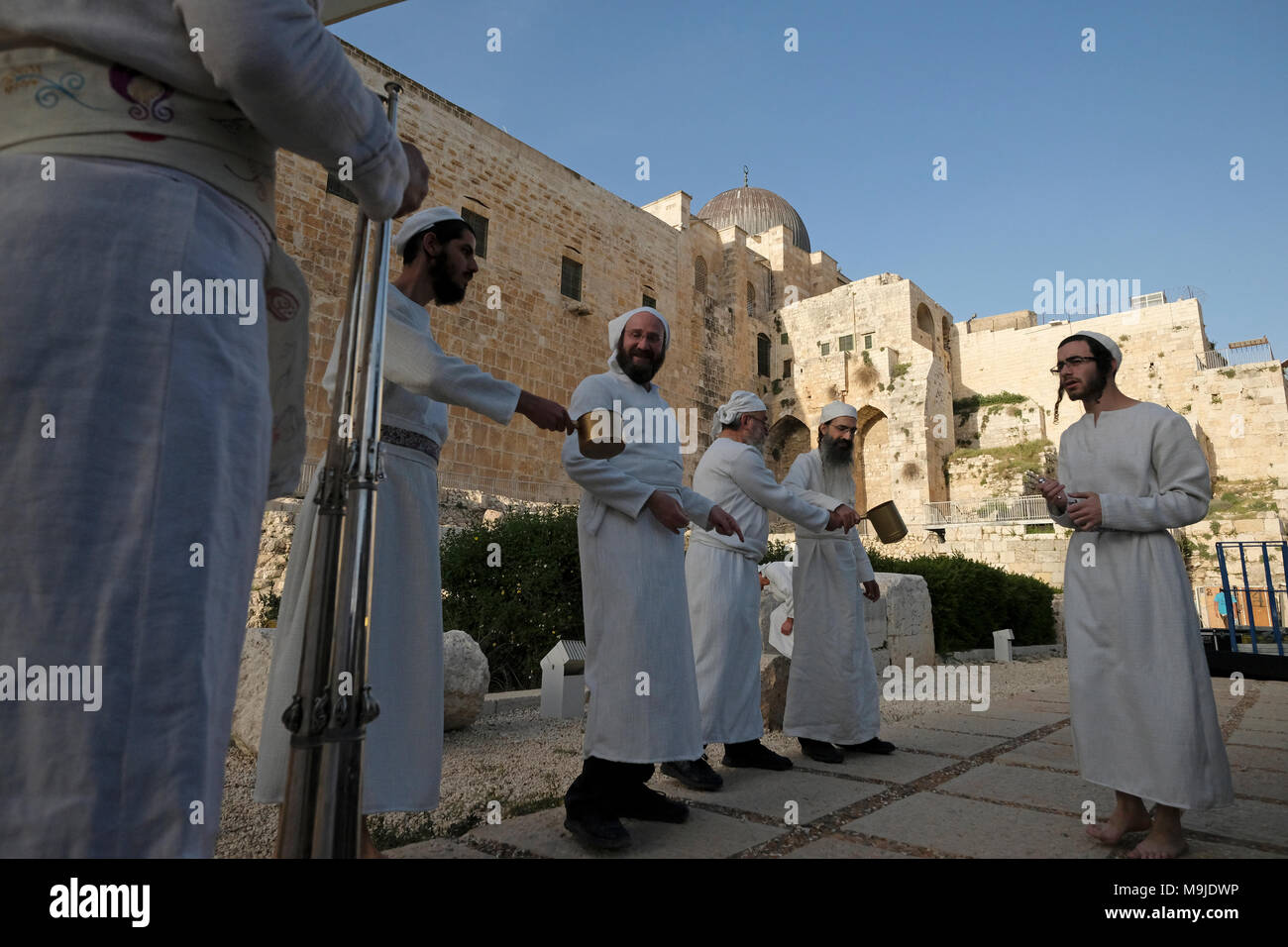 Jerusalem, Israel, 26th March, 2018  Religious Jews of the priestly