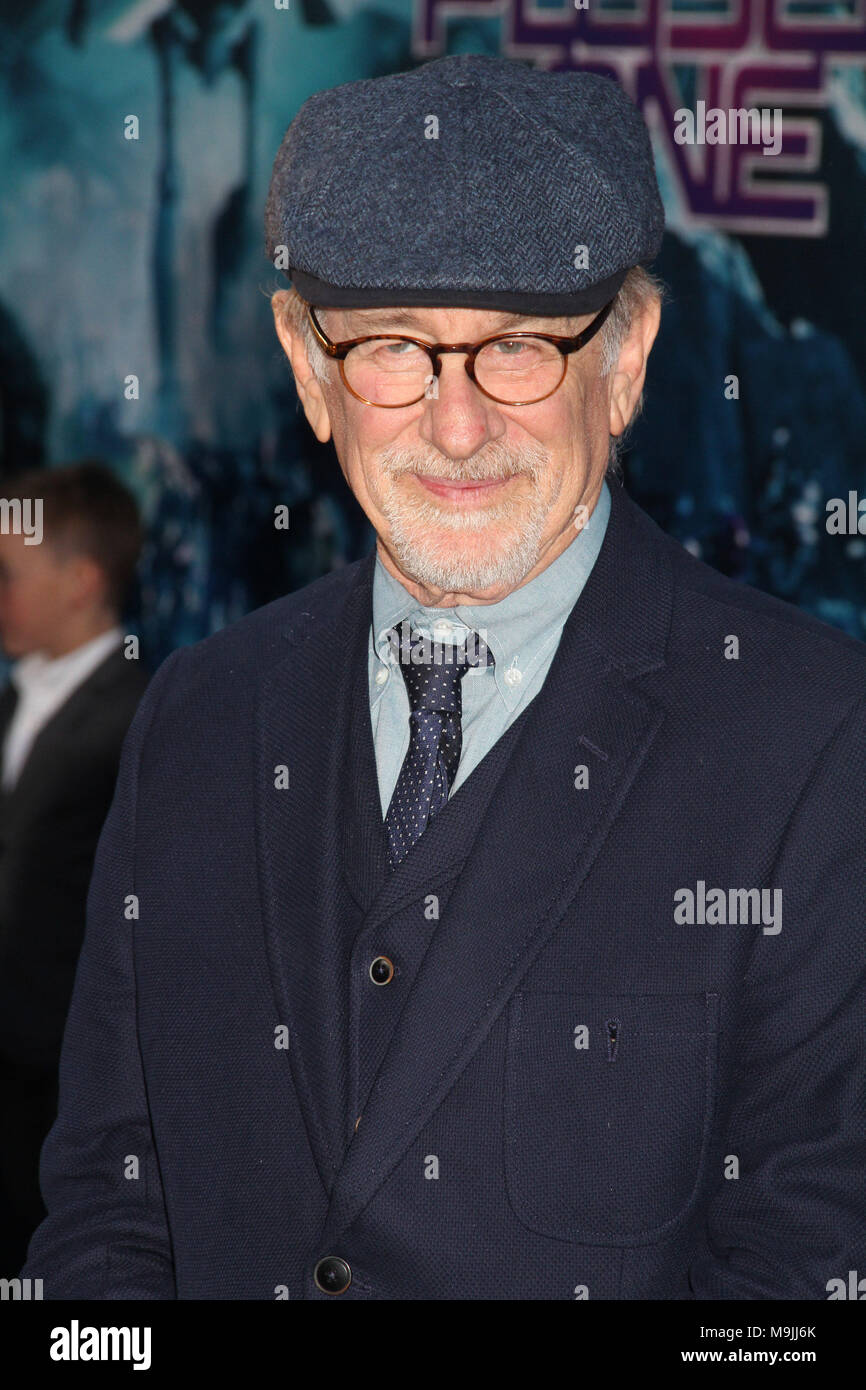 "Hollywood, California, USA. 26th March, 2018. Steven Spielberg  03/26/2018 The Los Angeles premiere of ""Ready Player One"" held at the Dolby Theatre in Los Angeles, CA  Photo: Cronos/Hollywood News Credit: Cronos/Alamy Live News Stock Photo"