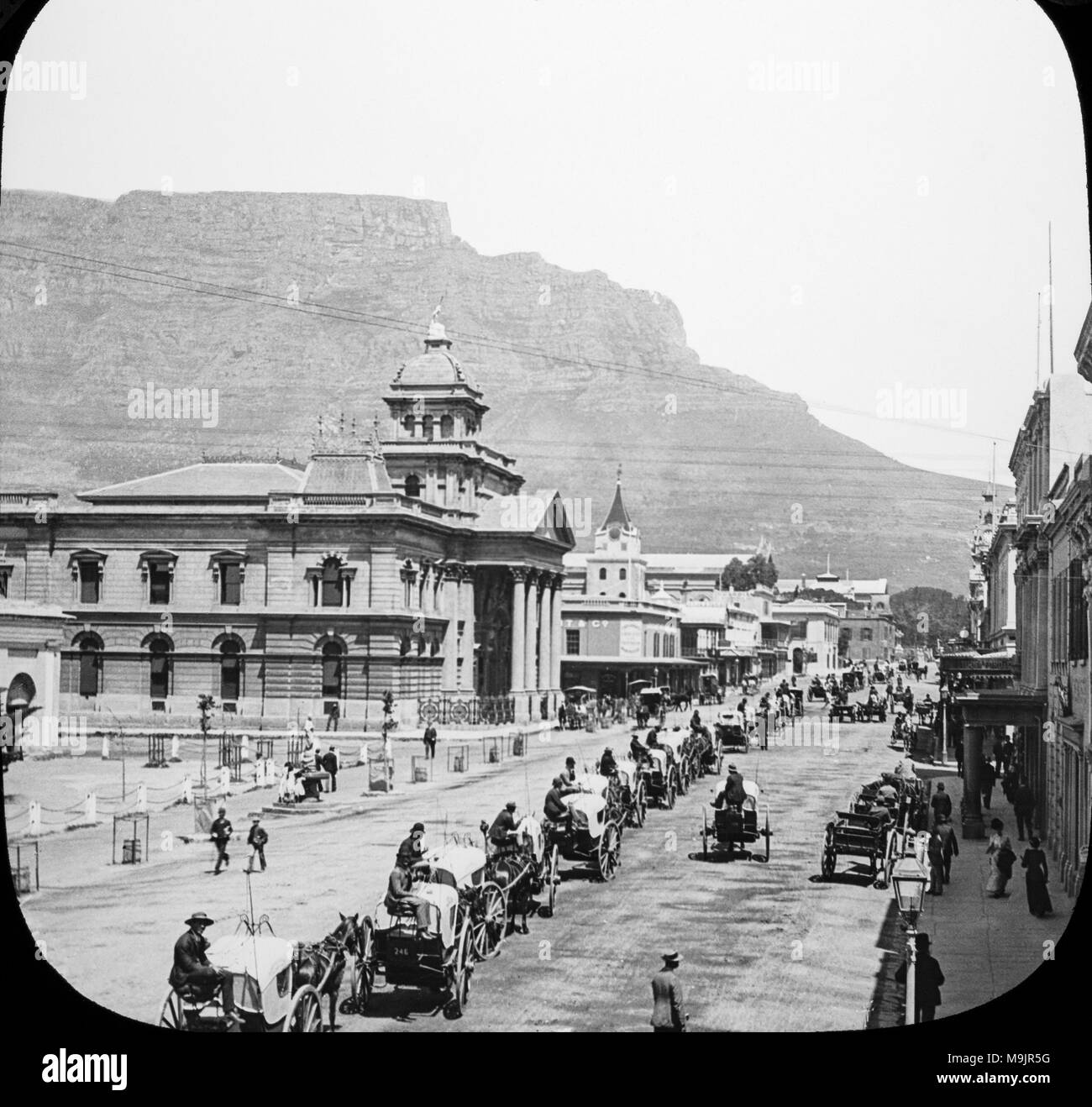 Johannesburg in South Africa in the late 1800s during the Gold Rush years which helped to establish the town of Johannesburg Stock Photo