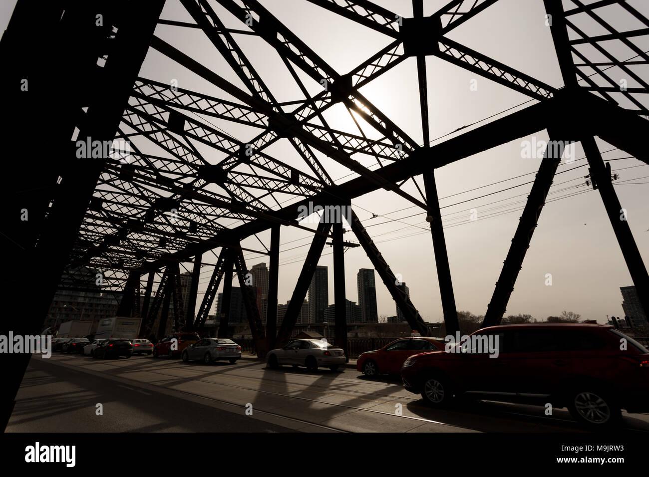 Bridge Grid in High Contrast - Stock Image