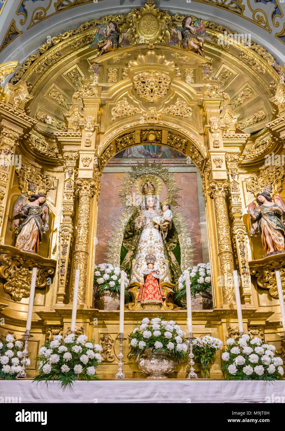 The 'Chapel of our Lady the holy Rosary' in the 'Basilica de la Macarena' (Church of the Macarena) in the Spanish city of Seville, Andalusia, Spain - Stock Image