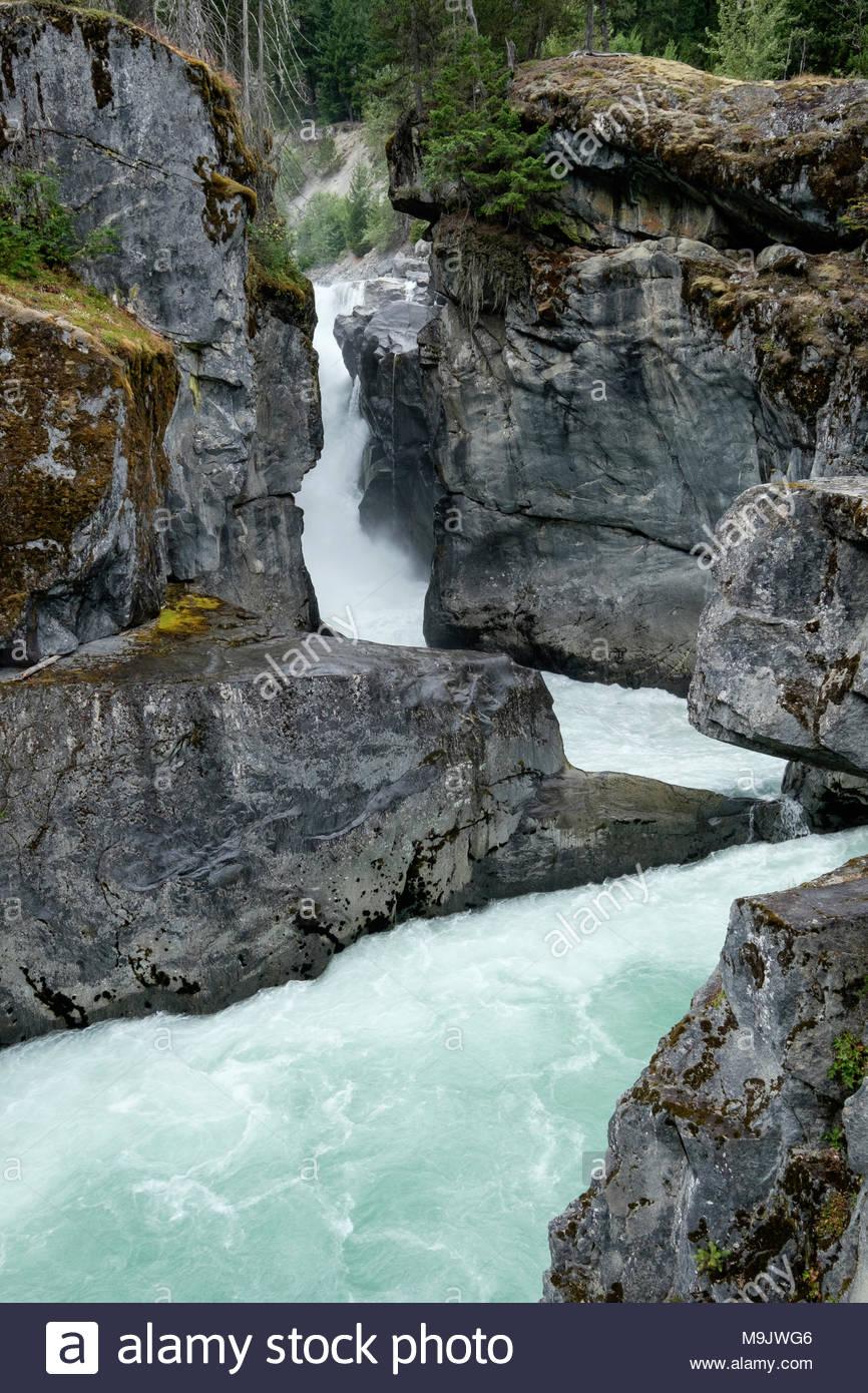 Nairn Falls Provincial Park near Whistler, BC - Stock Image