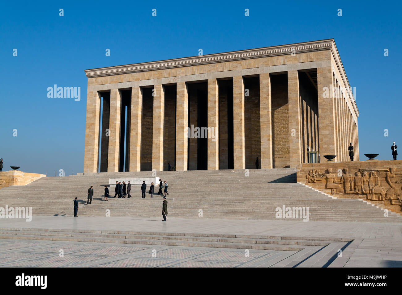 Ataturk Mausoleum, Anitkabir, memorial tomb of Mustafa Kemal Ataturk, first president of Turkey. ANKARA, TURKEY - DECEMBER 08, 2010 Stock Photo