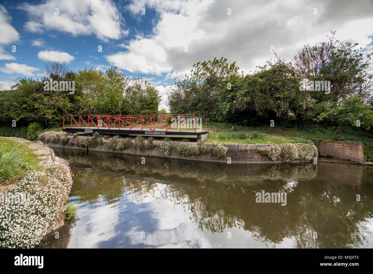 Canal lock at Chichester Ship Canal, Chichester, West Sussex, UK Stock Photo