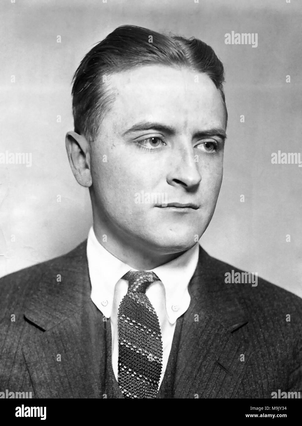 F Scott Fitzgerald 1896 1940 American Novelist About 1920