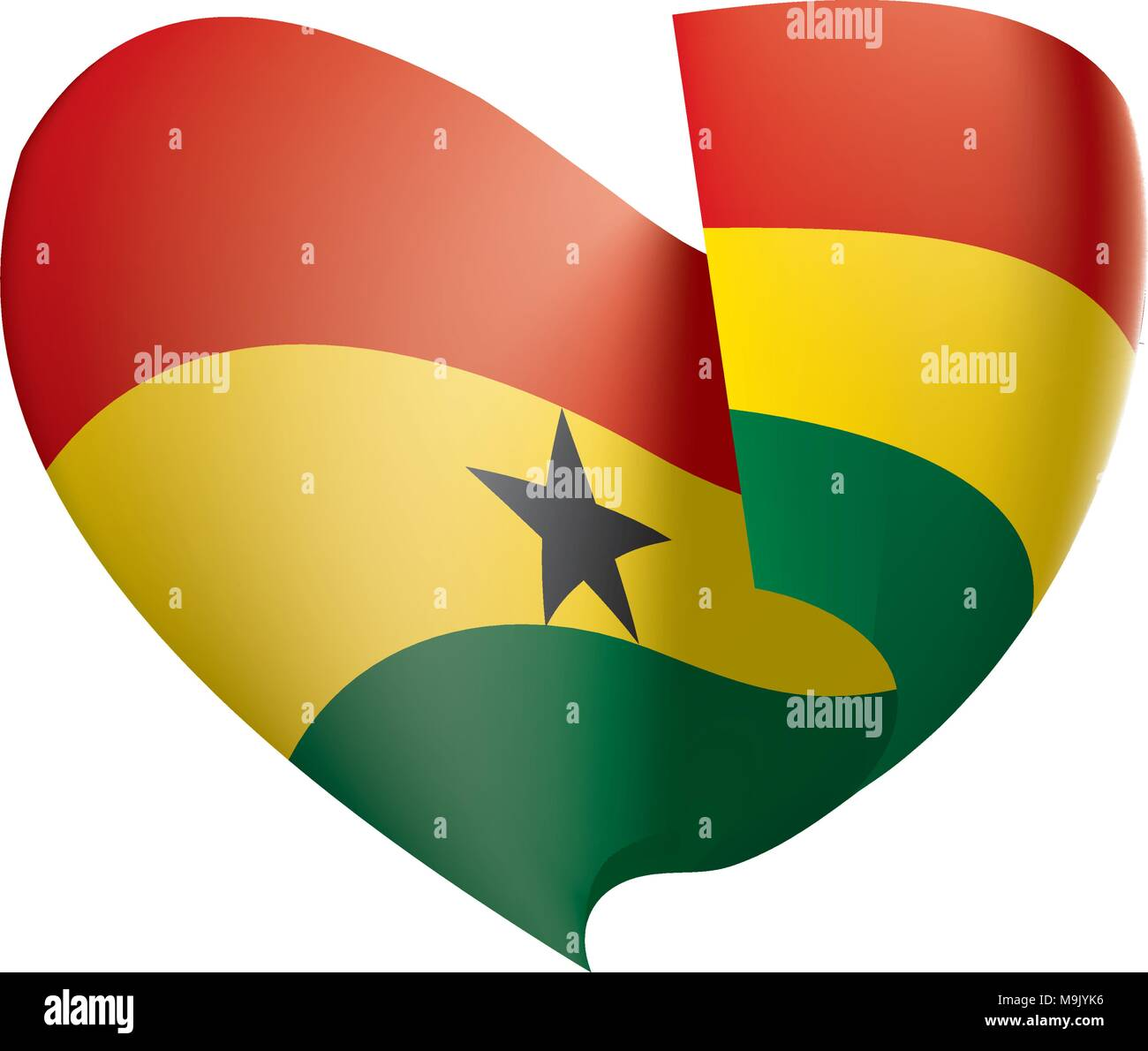 Ghana flag, vector illustration - Stock Vector