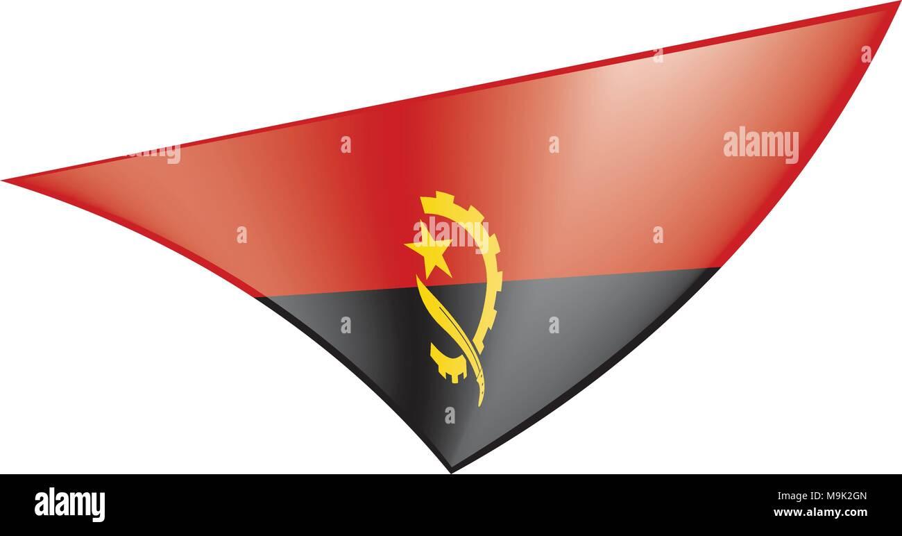 Angola flag, vector illustration - Stock Vector