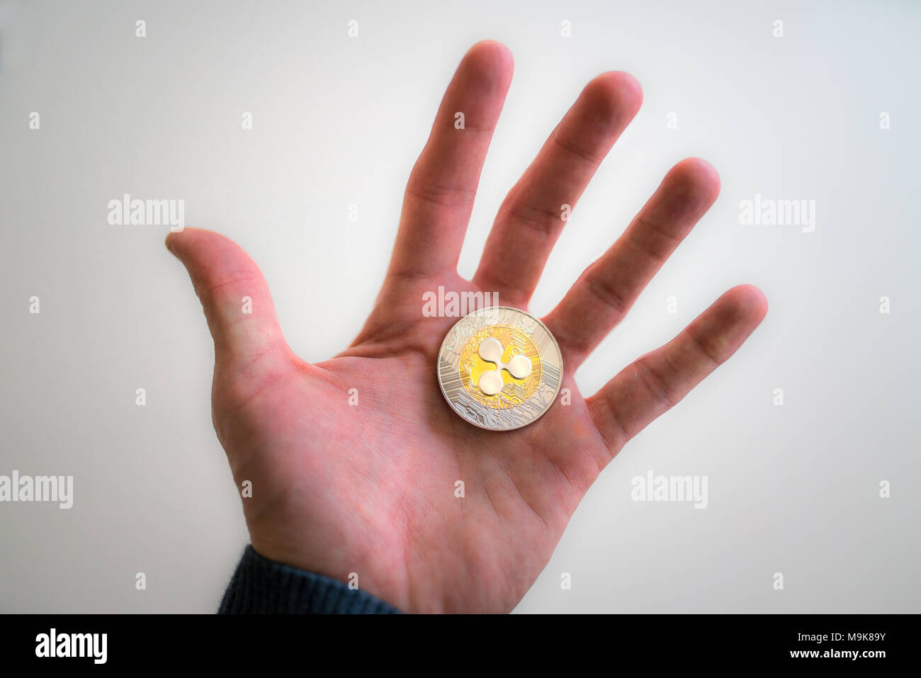 Ripple XRP hodl crypto currency - Stock Image