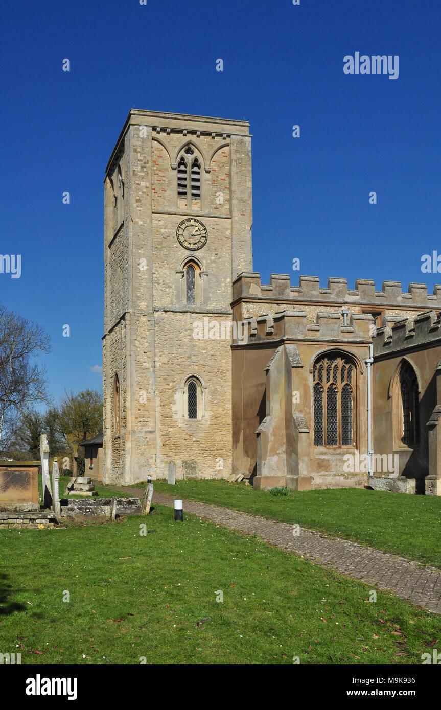 Holy Trinity Church, Meldreth, Cambridgeshire, England, UK - Stock Image
