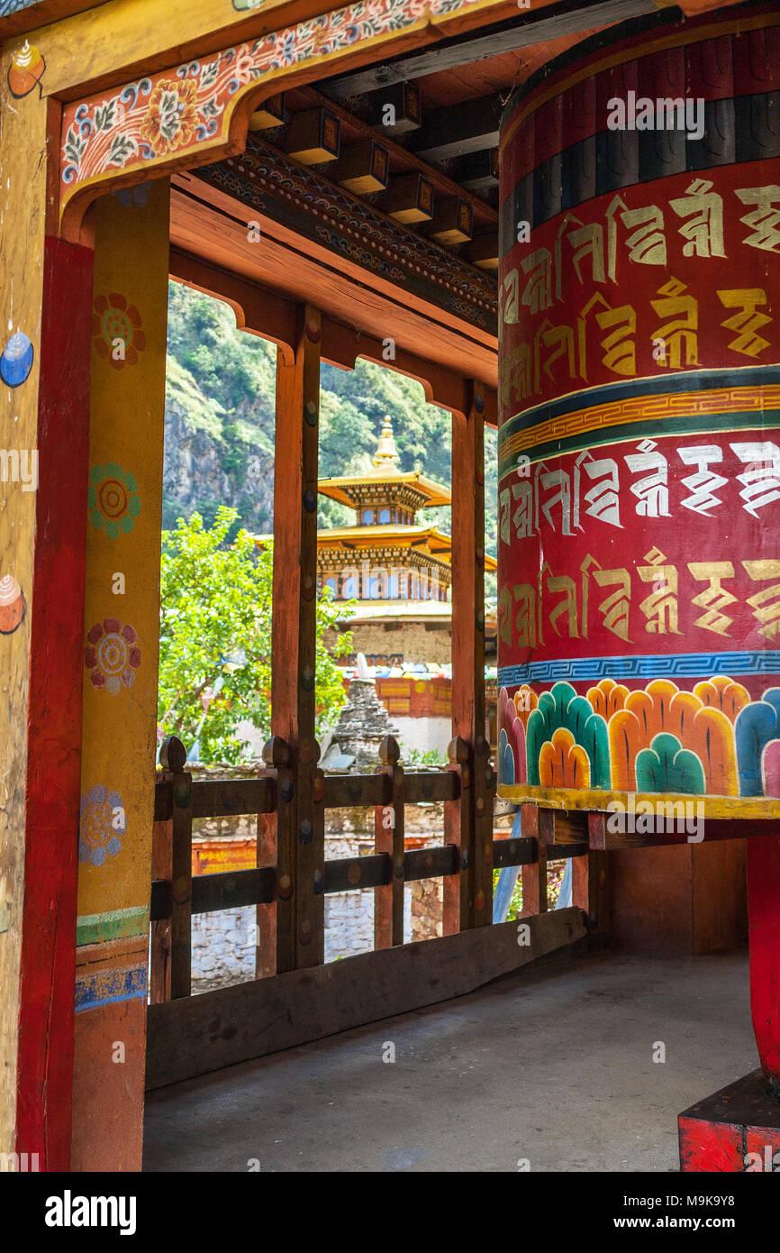 School of the Buddhist religion - Chorten Kora , Bhutan - Stock Image