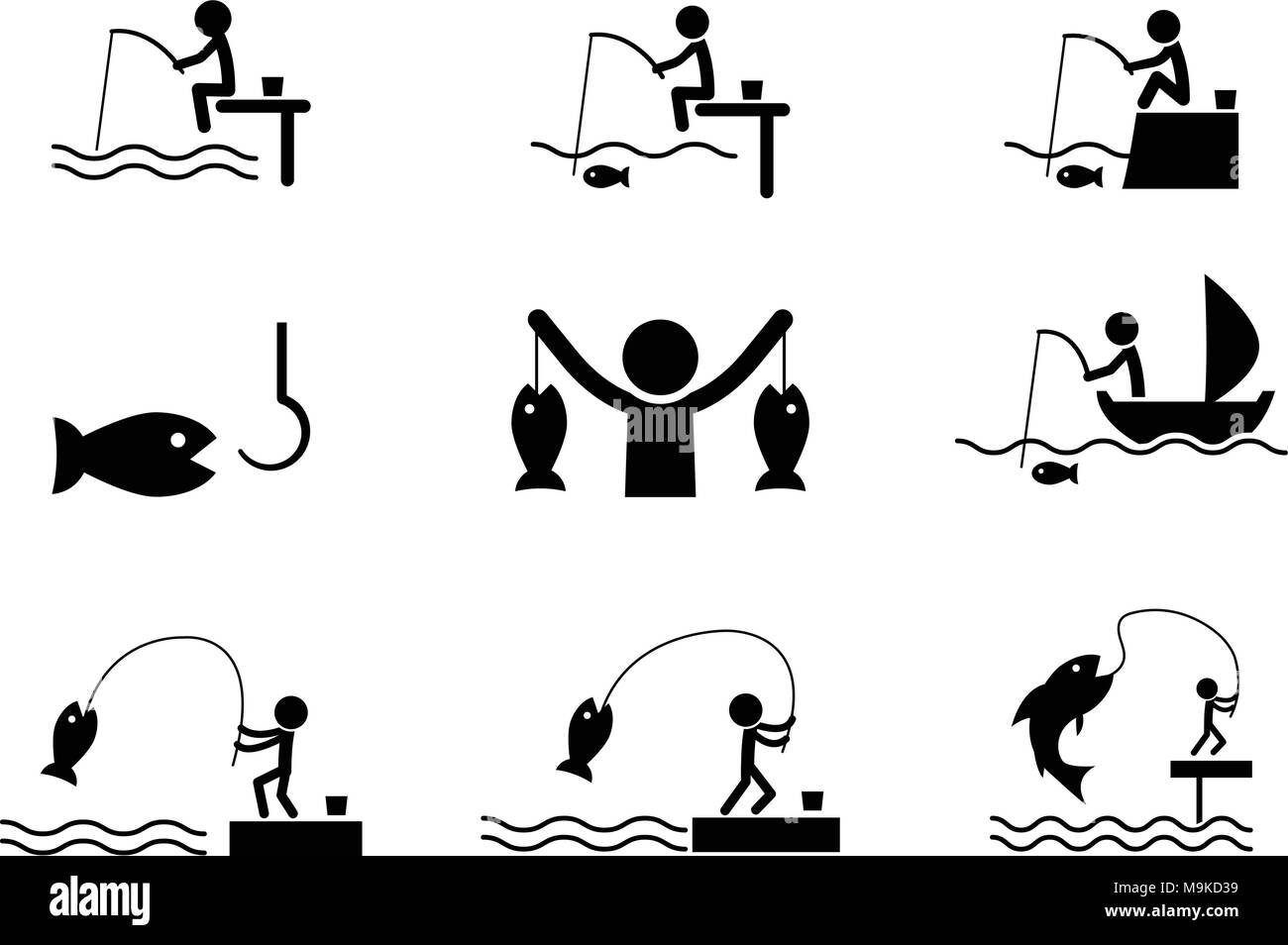 Fishing Icons Stock Photos Fishing Icons Stock Images Alamy