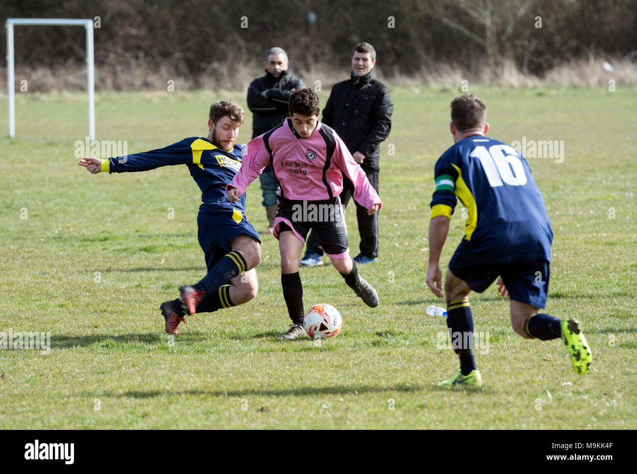 Sunday League football, Leamington Spa, Warwickshire, England, UK - Stock Image