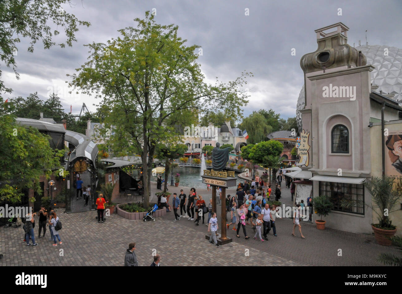 Europa-Park is the largest theme park in Germany. is located at Rust between Freiburg and Strasbourg, France. - Stock Image