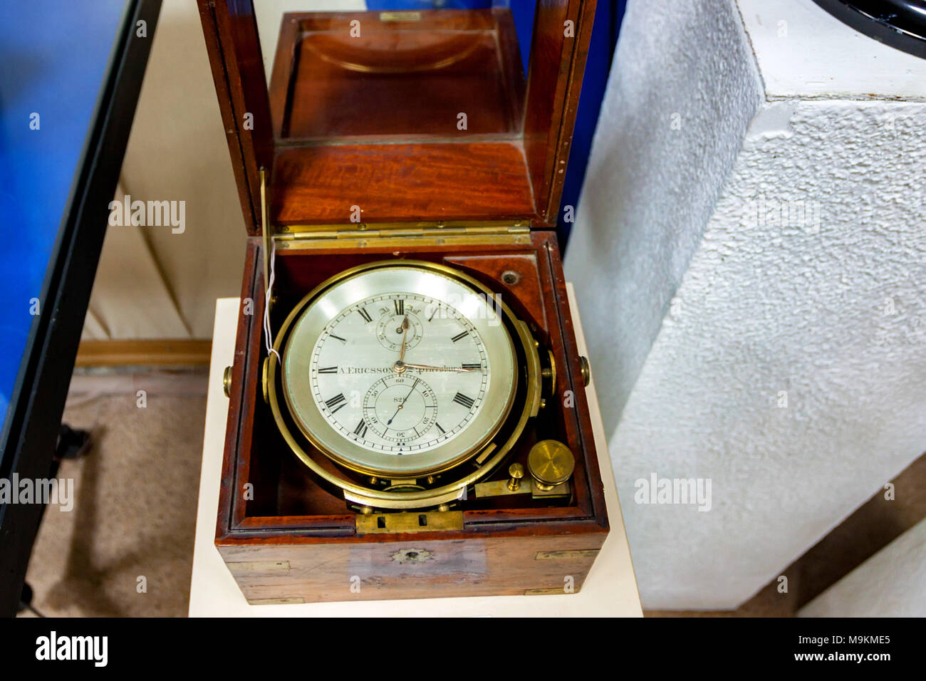 SEVASTOPOL, RUSSIA - MARCH 19, 2011: Old marine chronometer in Sevastopol museum - Stock Image