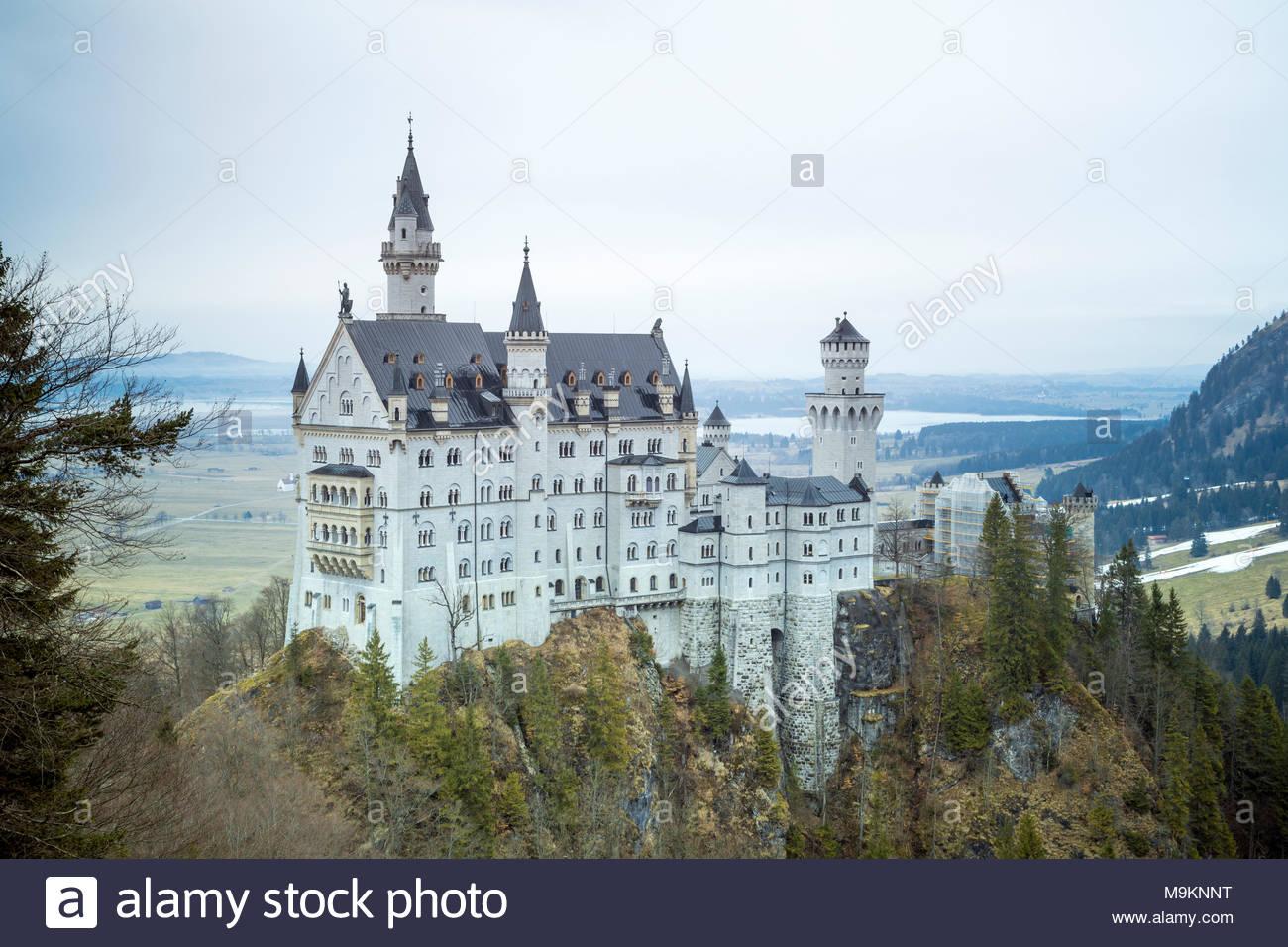 Neuschwanstein Castle, Schwangau, Ostallgäu, Schwaben district, Bavaria, Germany, Europe Stock Photo