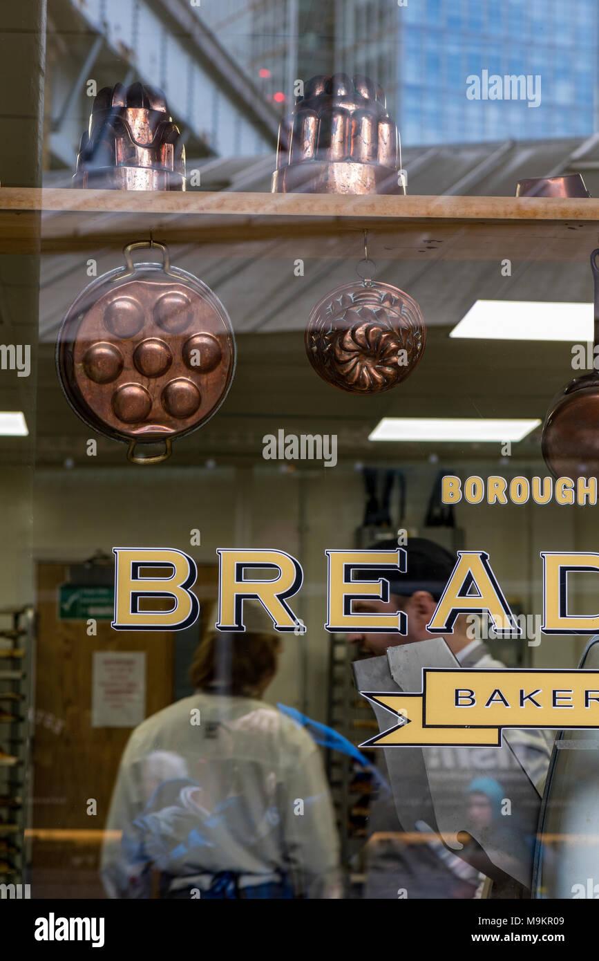 artisan bakery, borough market, london, england, uk. - Stock Image