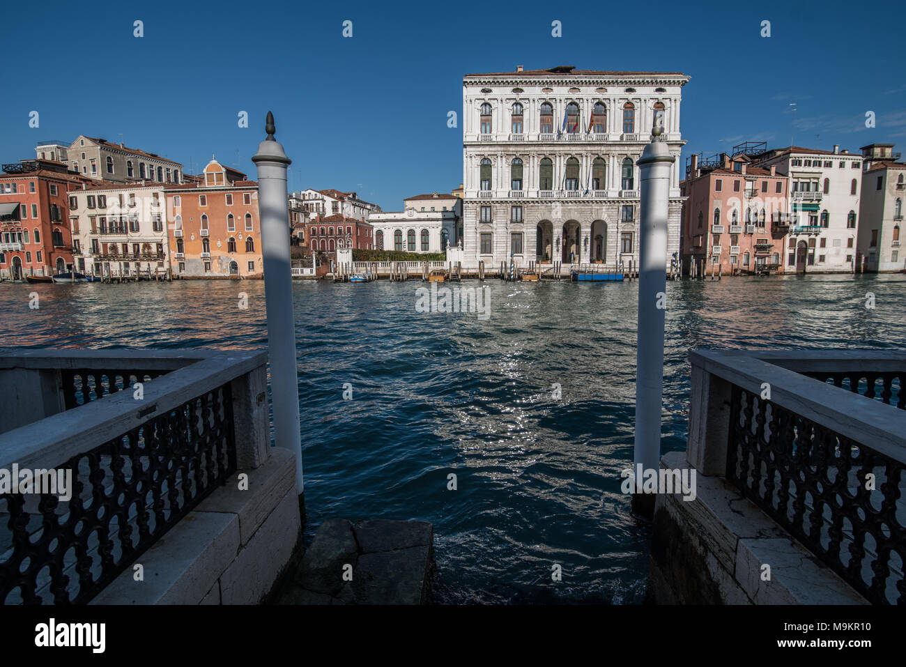 ITaly, Venice - Ordinary day in Venice, Italy with canals and gondolas around the city - Stock Image