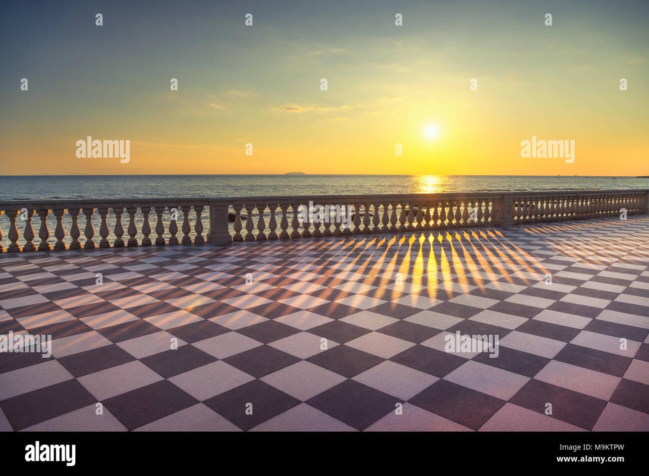 Mascagni Terrazza Terrace Belvedere Seafront Atr Sunset