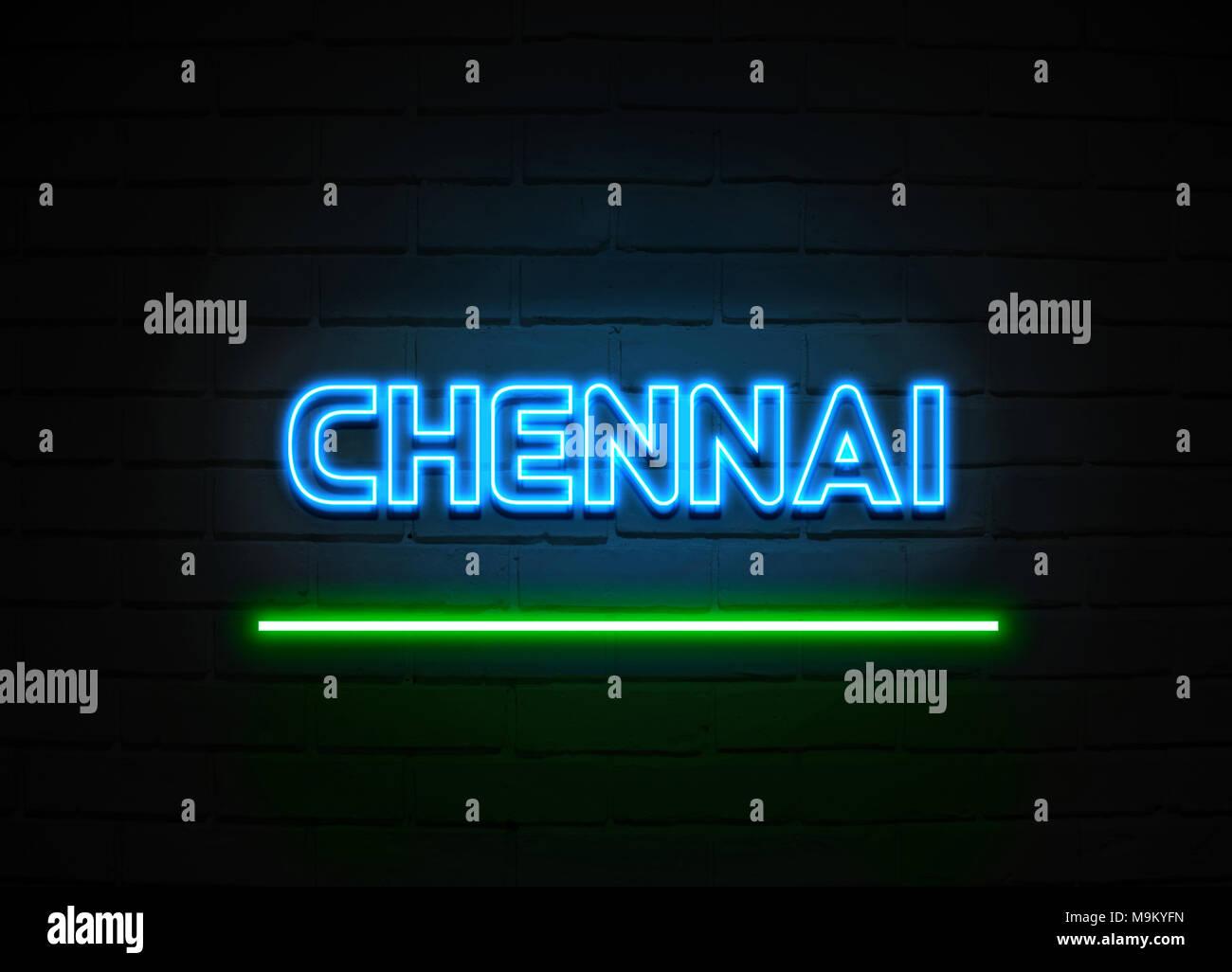Chennai neon sign Glowing Neon Sign