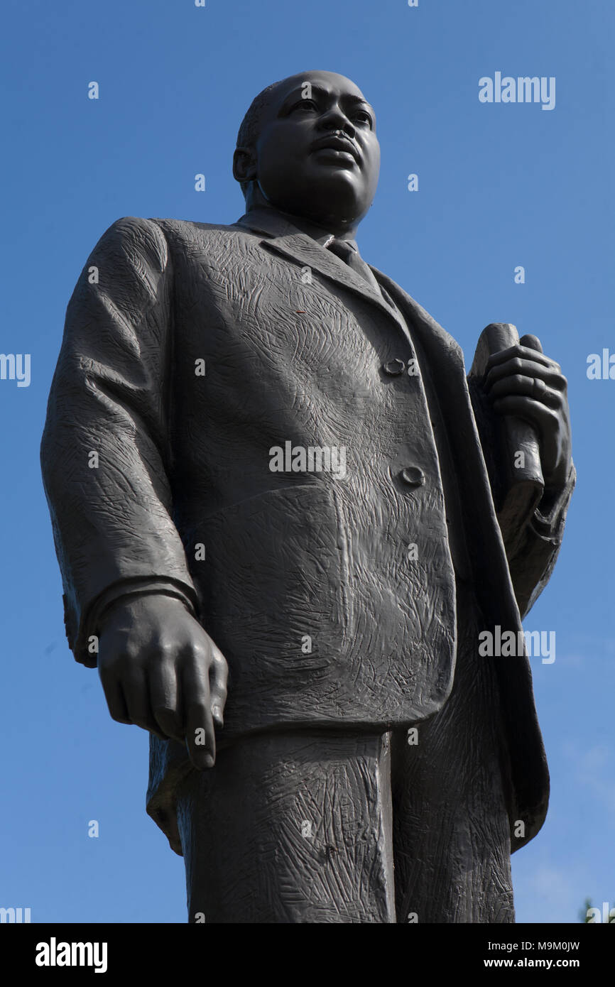 Statue of Dr. Martin Luther King, Jr., in the Kelly Ingram Park, Birmingham, Alabama Stock Photo