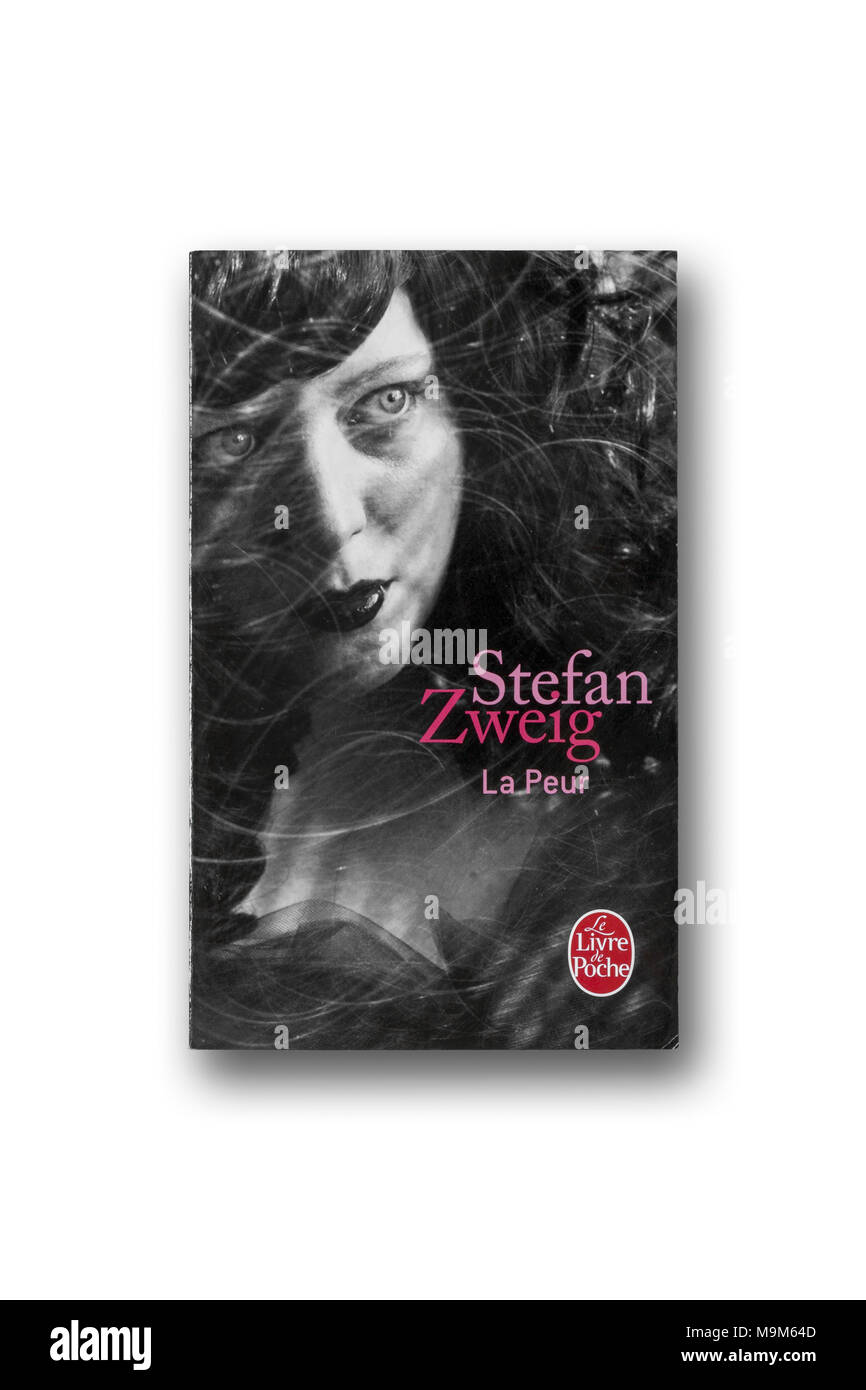 Stefan Zweig book 'Fear' in French - Stock Image