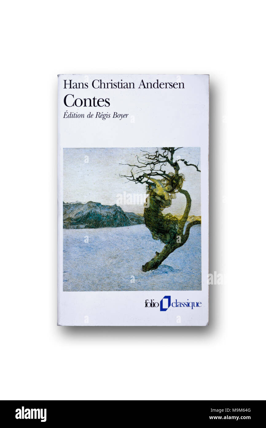 Hans Christian Andersen book 'Tales' in French - Stock Image
