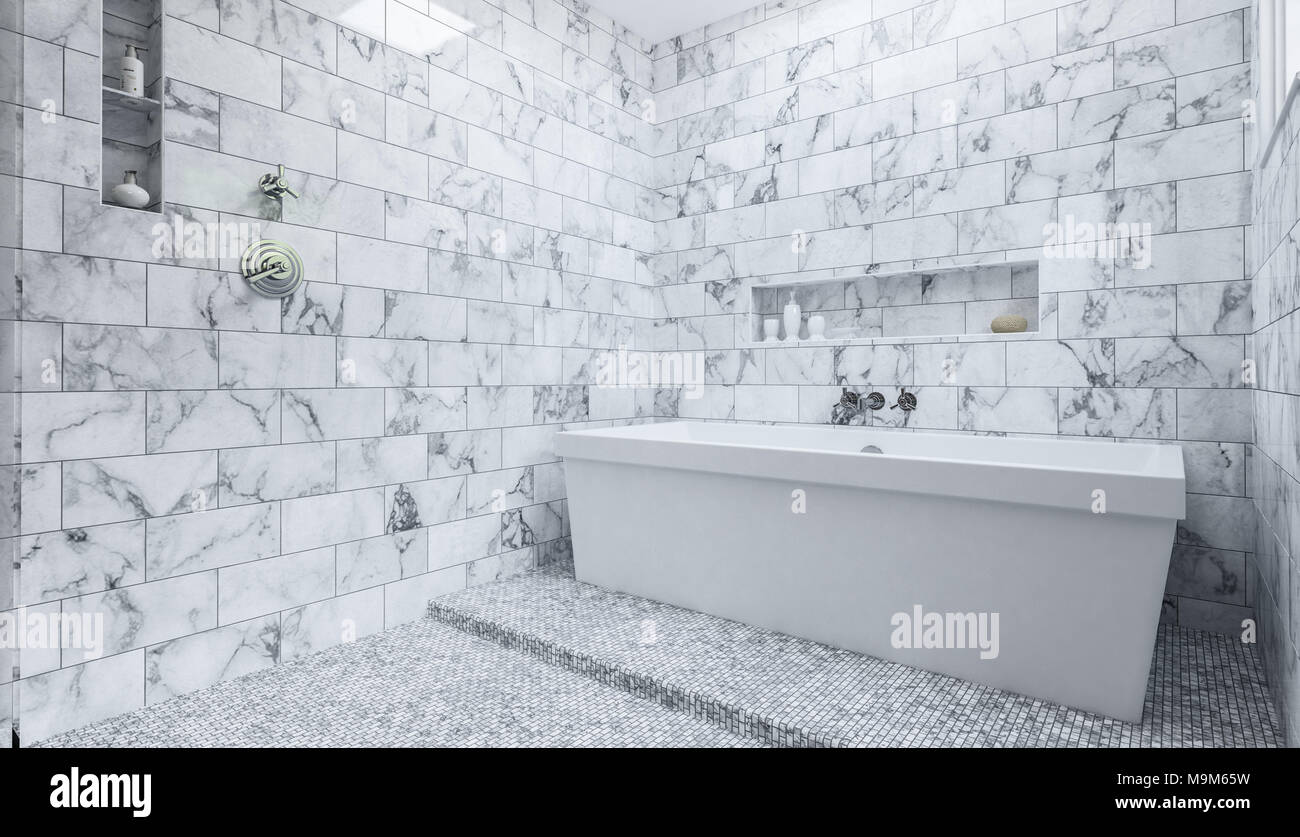Bathroom Shower Tiles Monochromatic Stock Photos & Bathroom Shower ...