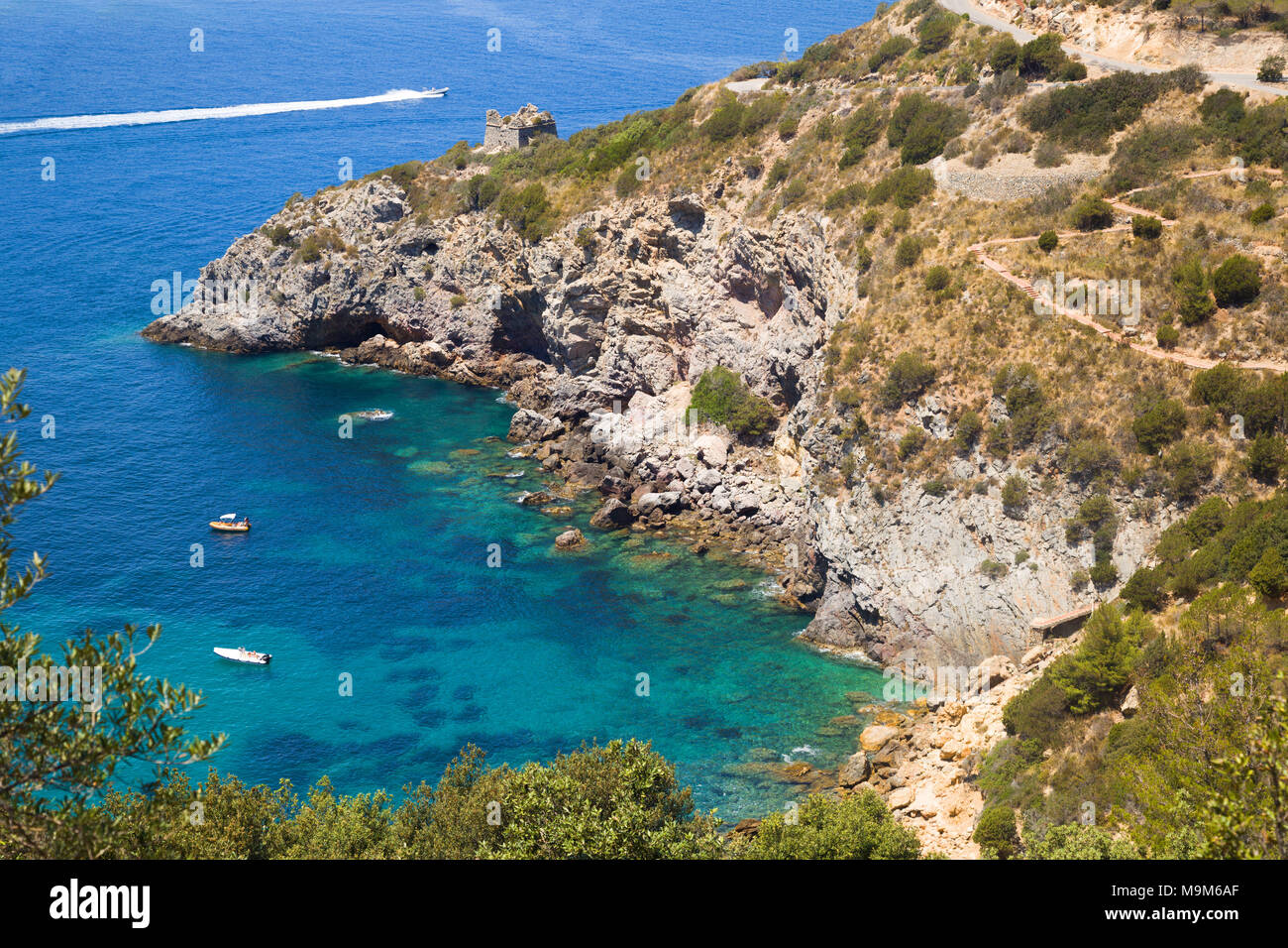 Awesome bay in Monte Argentario in Tuscany, Italy - Stock Image