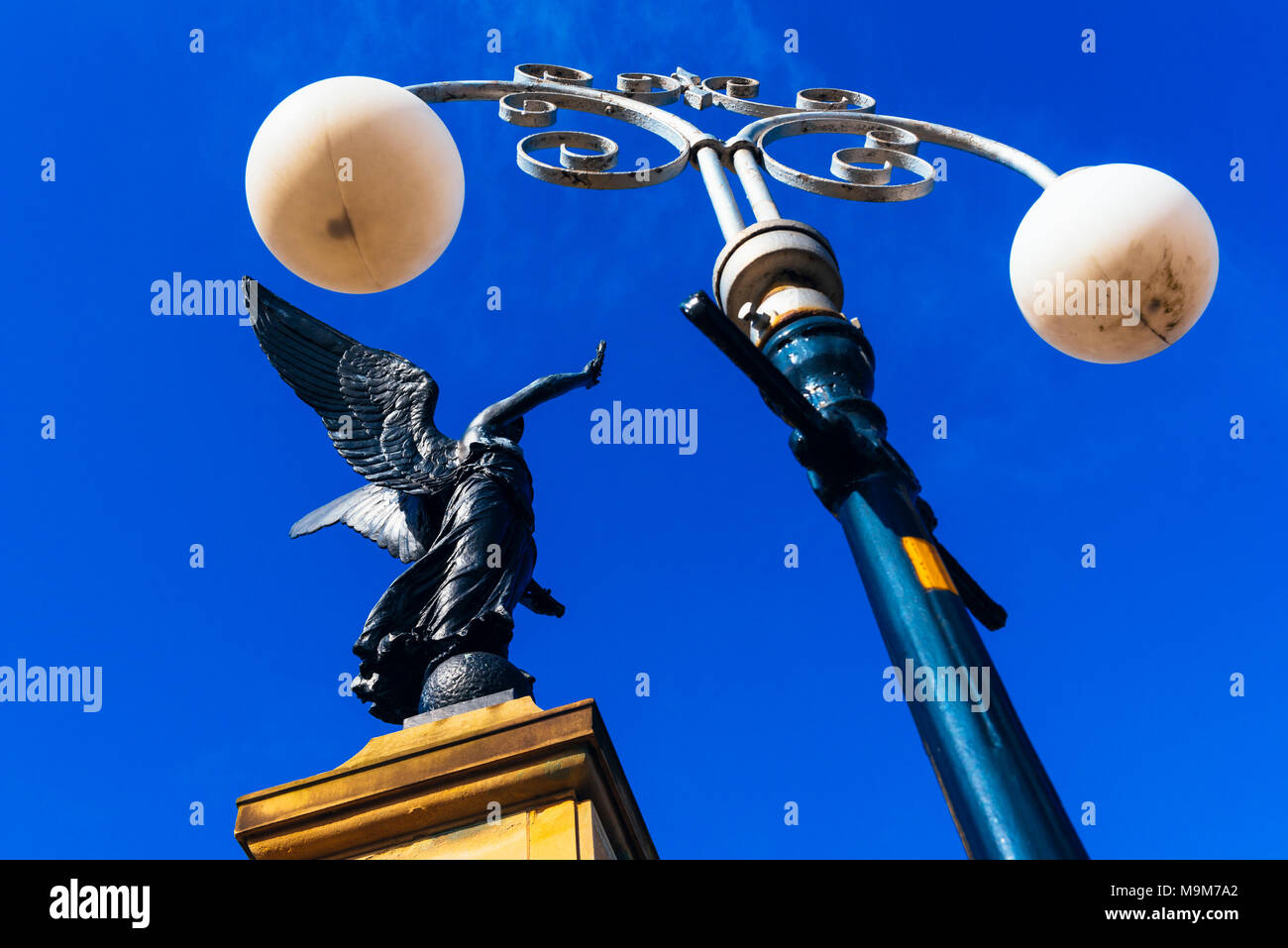 Five Lamps War Memorial, Waterloo with Seaforth, Crosby, Merseyside, England - Stock Image