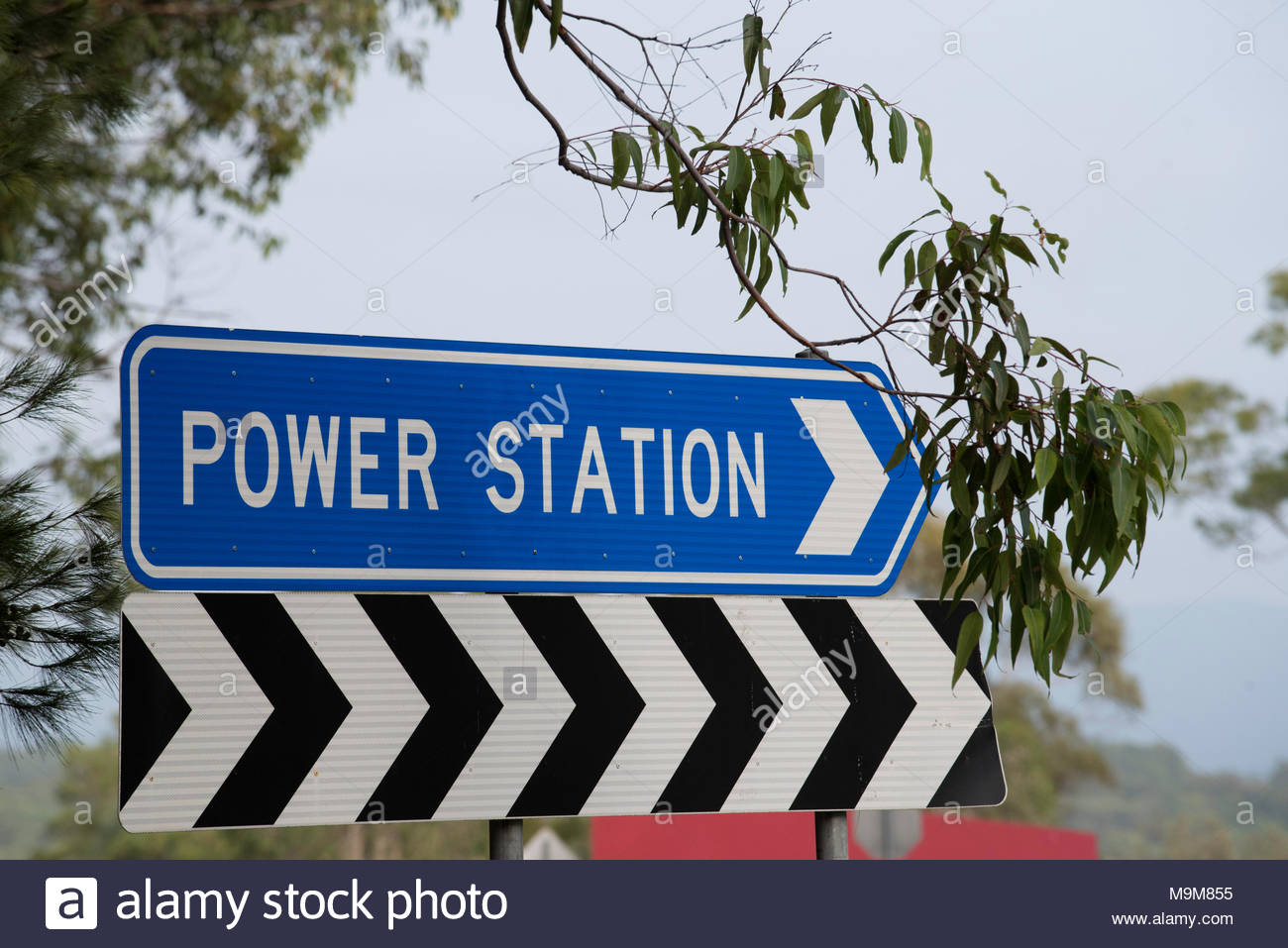 Eraring coal fired power station that feeds into the electricity grid in NSW, Australia - Stock Image