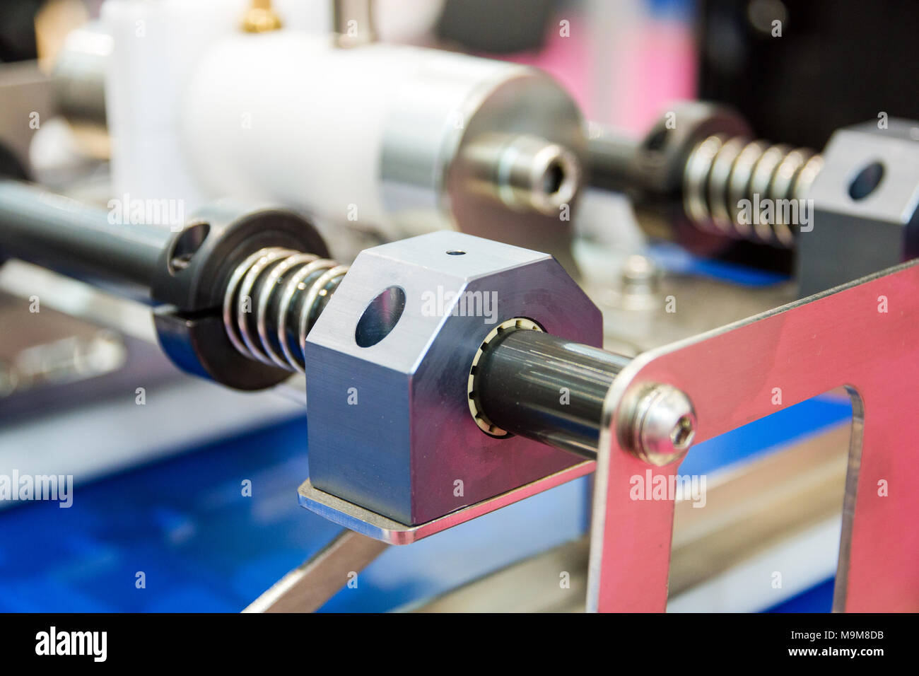 detail closeup of equipment for bakery products. - Stock Image