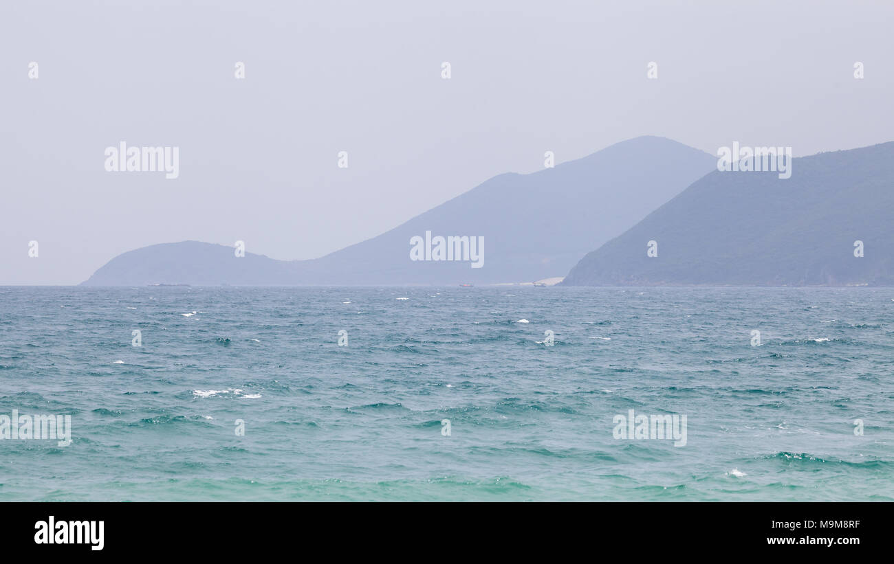 South China Sea, view from Nha Trang, Vietnam - Stock Image