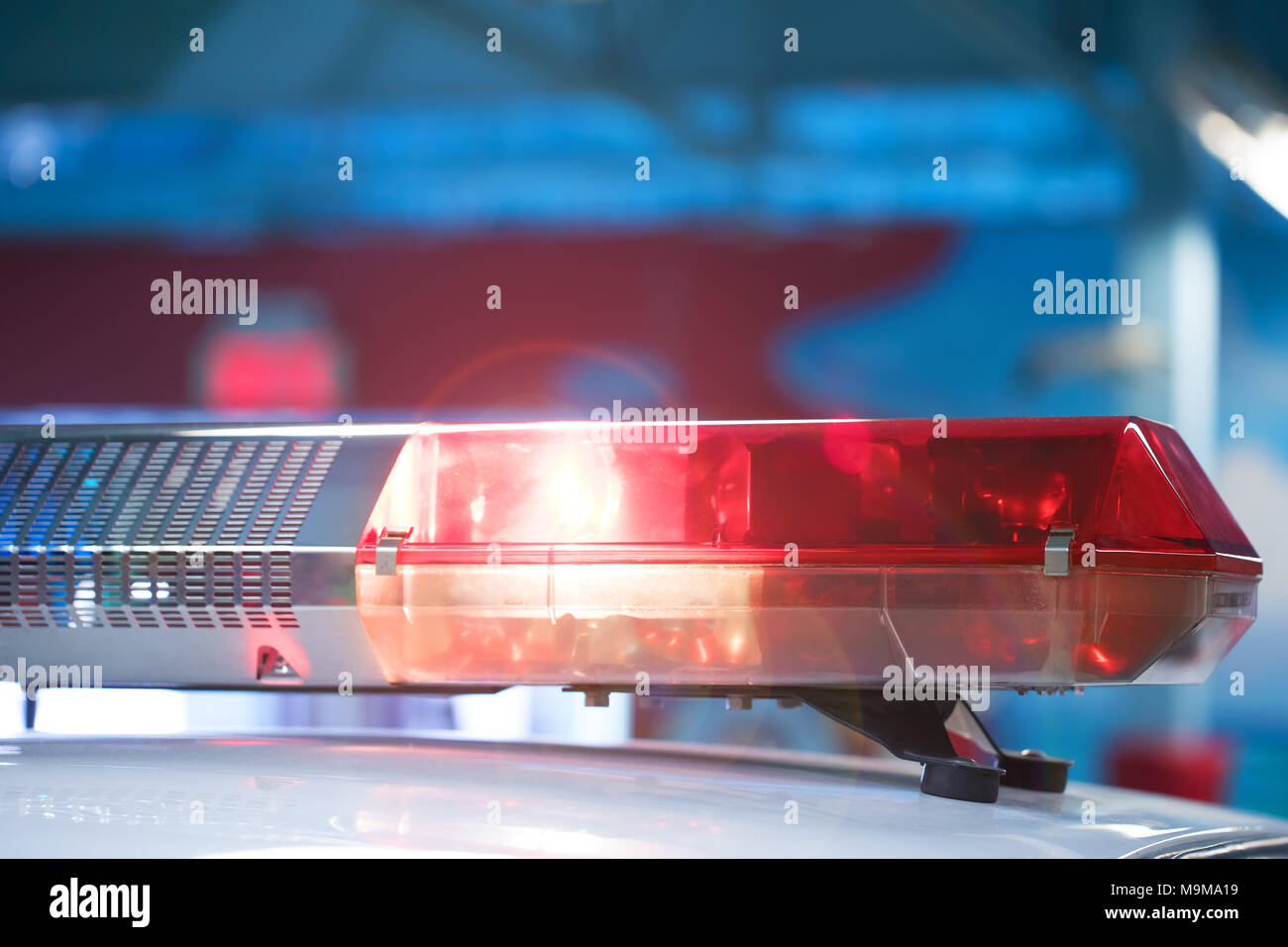 Police Siren Stock Photos Images Alamy Home Hobby Car Lights With Leds On Flashing Close Up Light And The