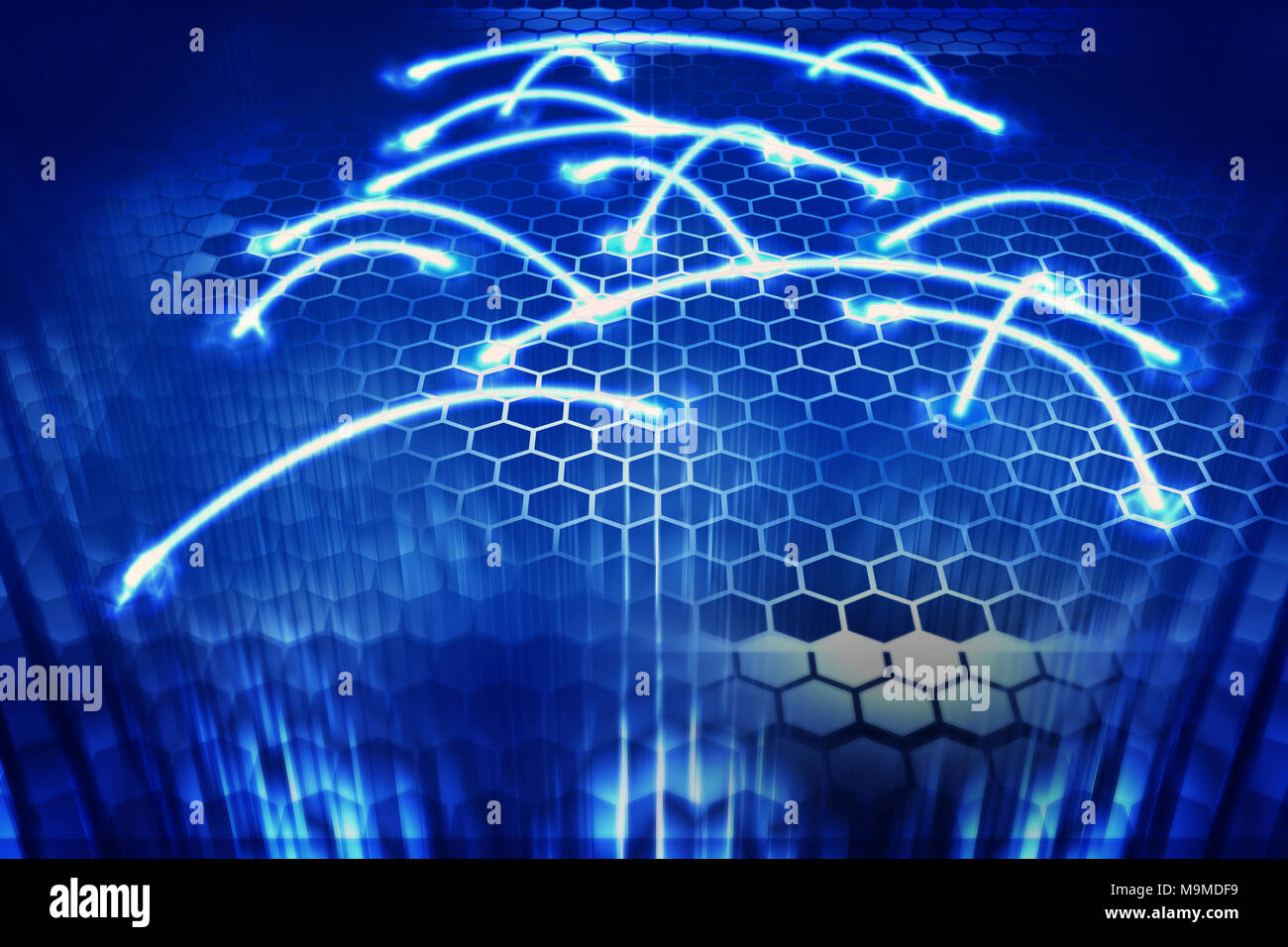 hexagon computer connection 3d rendering stock photo 178085245 alamy