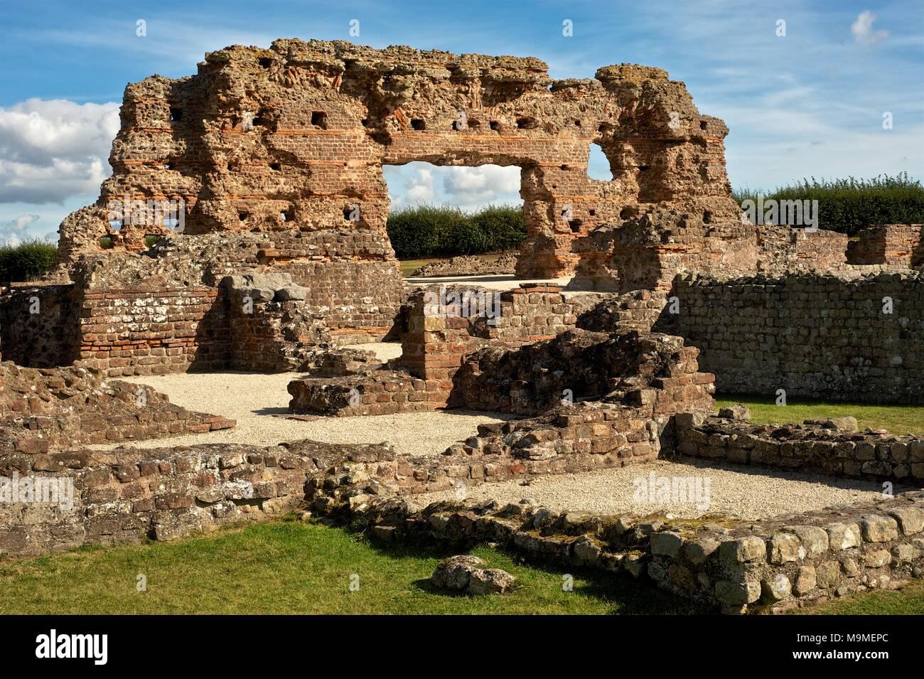 Roman ruins, standing brickwork at Wroxeter roman city, Shropshire England - Stock Image