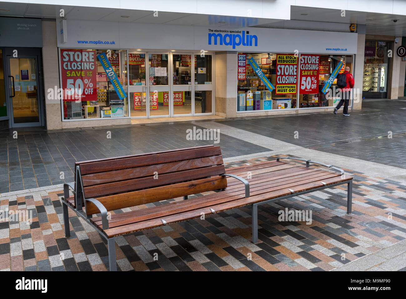 The marlins high street chain of electrical stores closing down. Victim of online sales and Brexit. High street shops losing money and mis-managed. Stock Photo